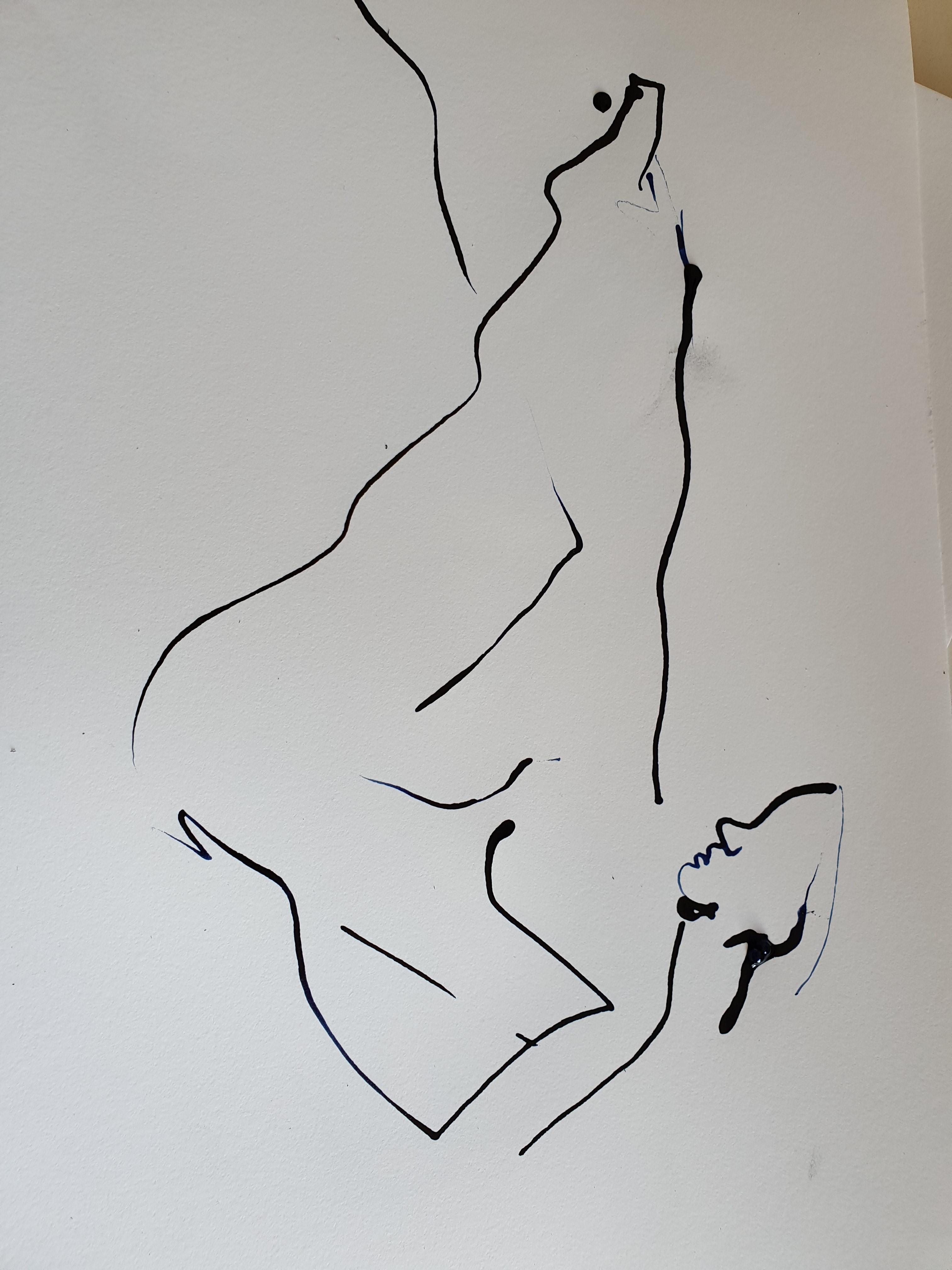 dessin  a la ligne encre de chine   cours de dessin