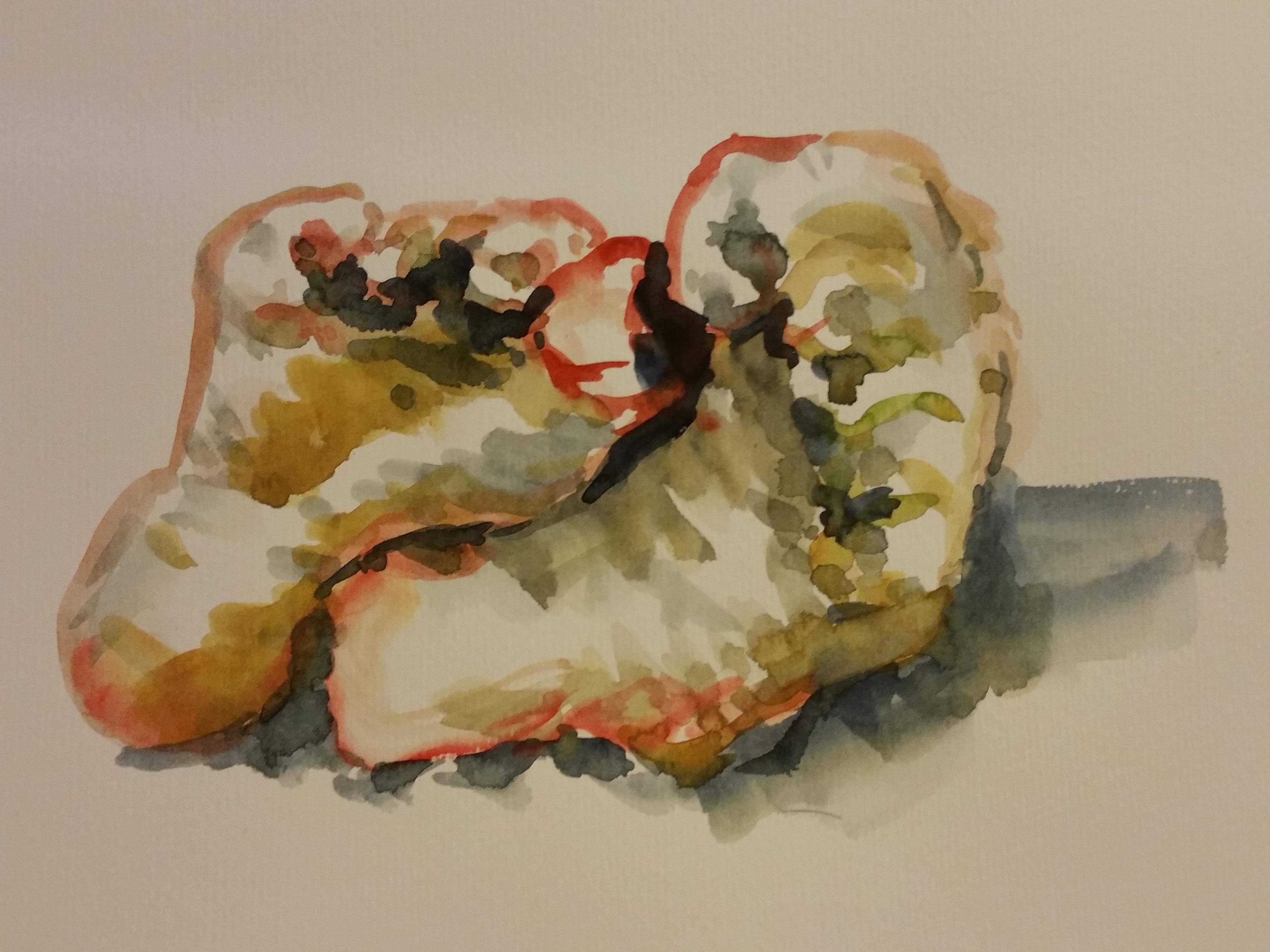 Pied aquarelle couleurs dessin  cours de dessin
