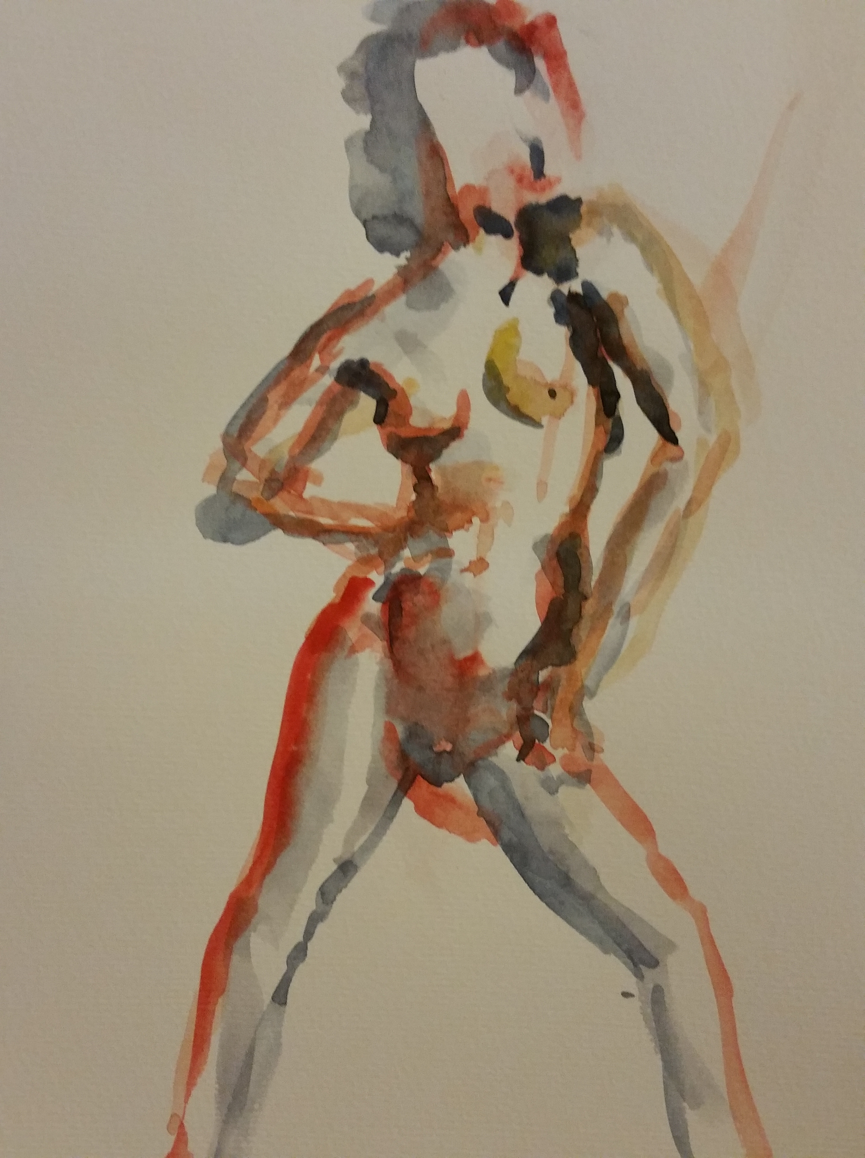Esquisse aquarelle danse polychrome  cours de dessin