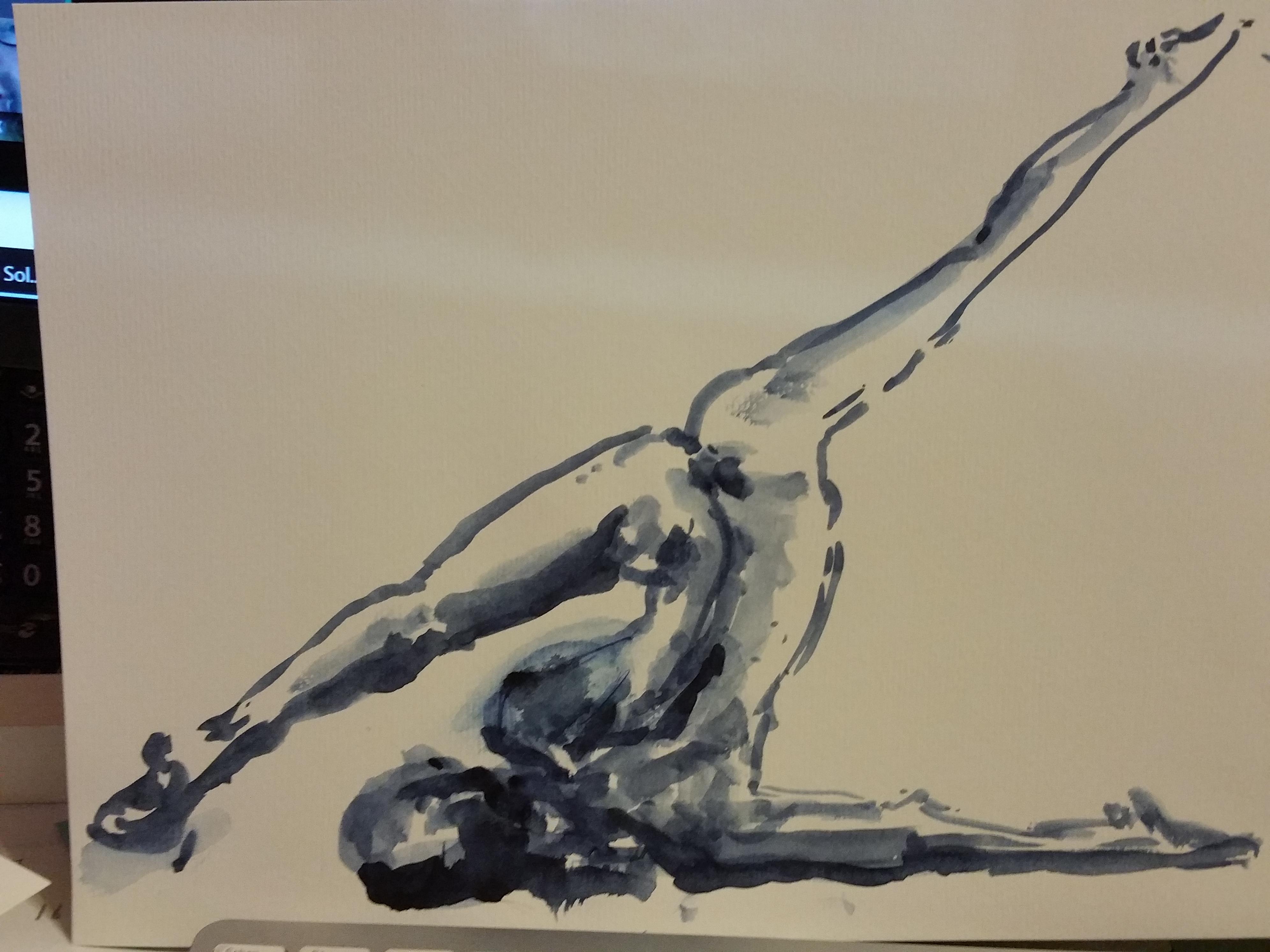 dessin dance aquarelle bleu  cours de dessin