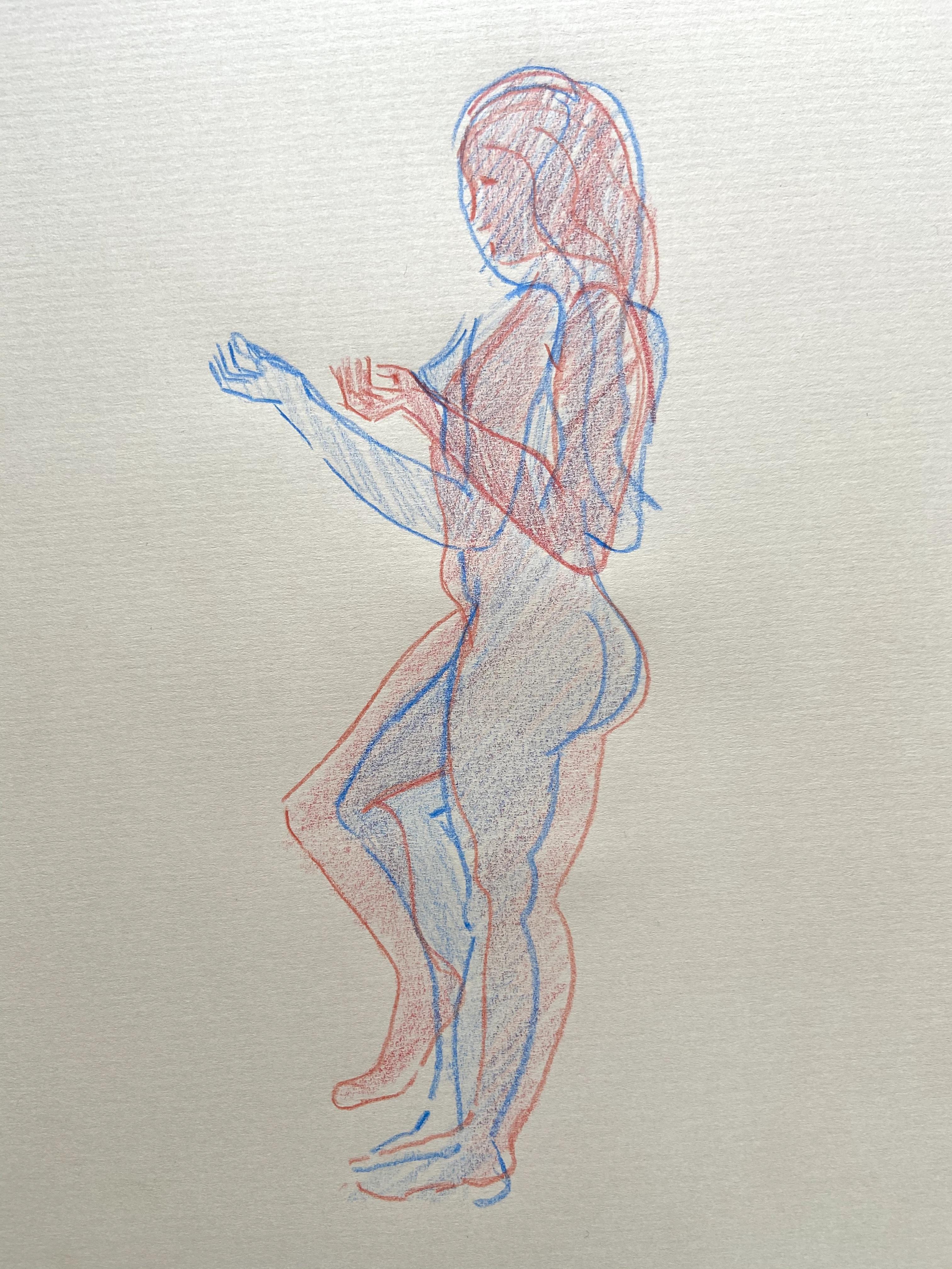 �tude mouvement crayon de couleur  cours de dessin