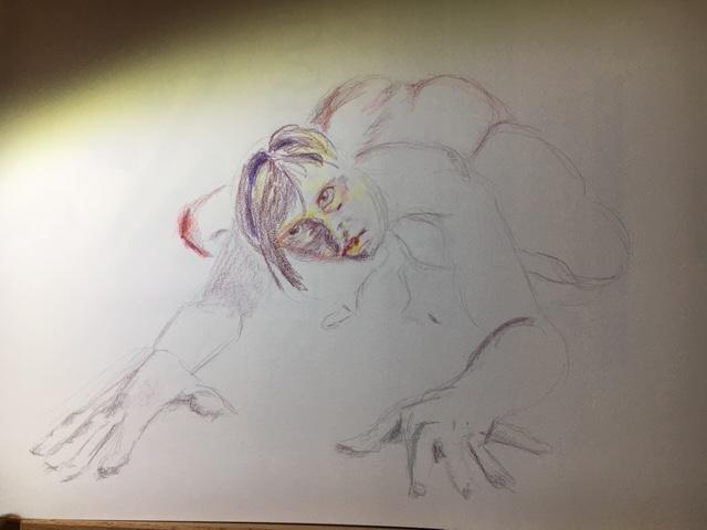 Dessin crayon de couleur raccourcie  cours de dessin