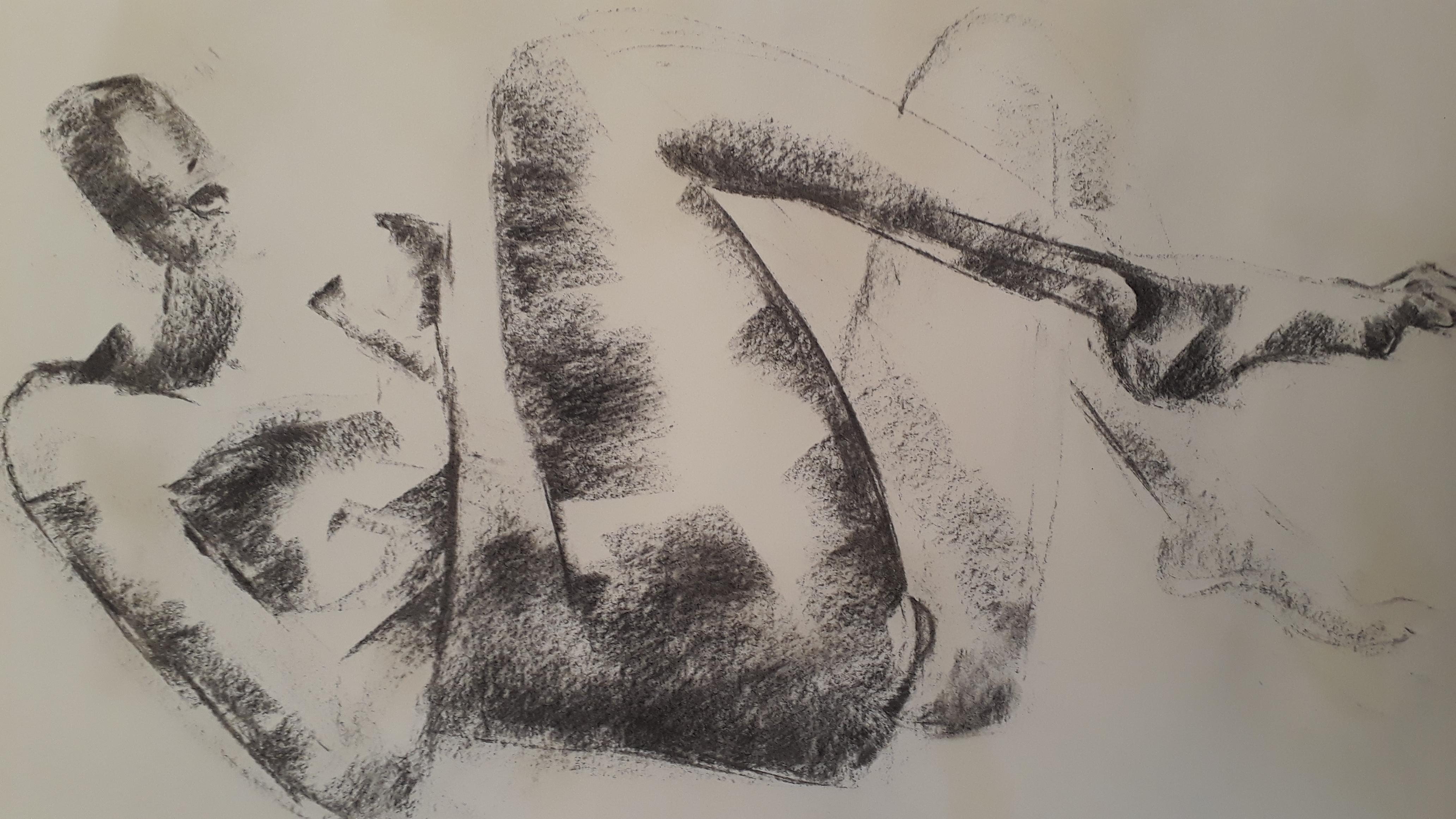 Fusain allong� valeurs de dessin  cours de dessin