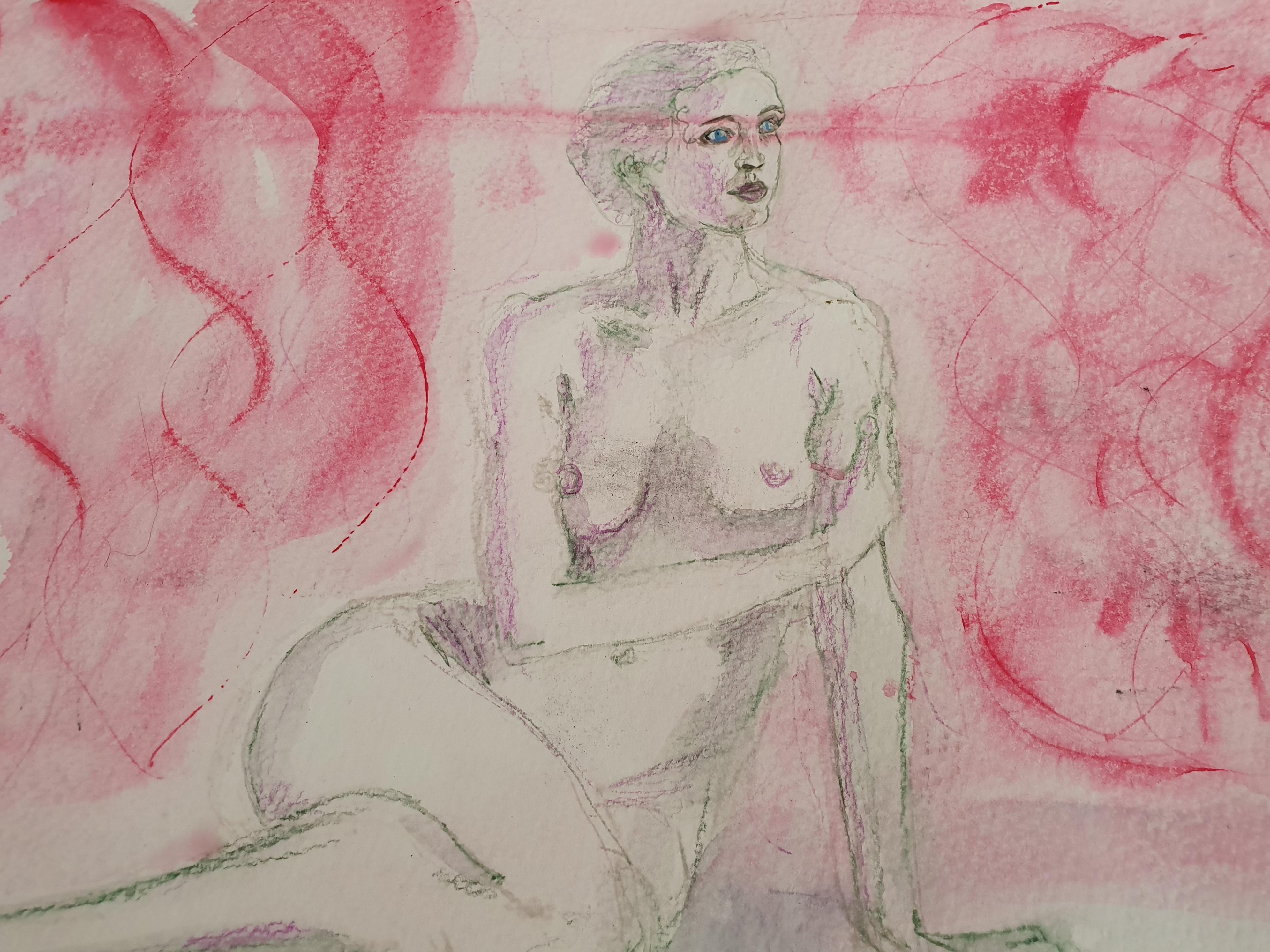 Pastel crayon papier sur papier aquarelle dessin  cours de dessin