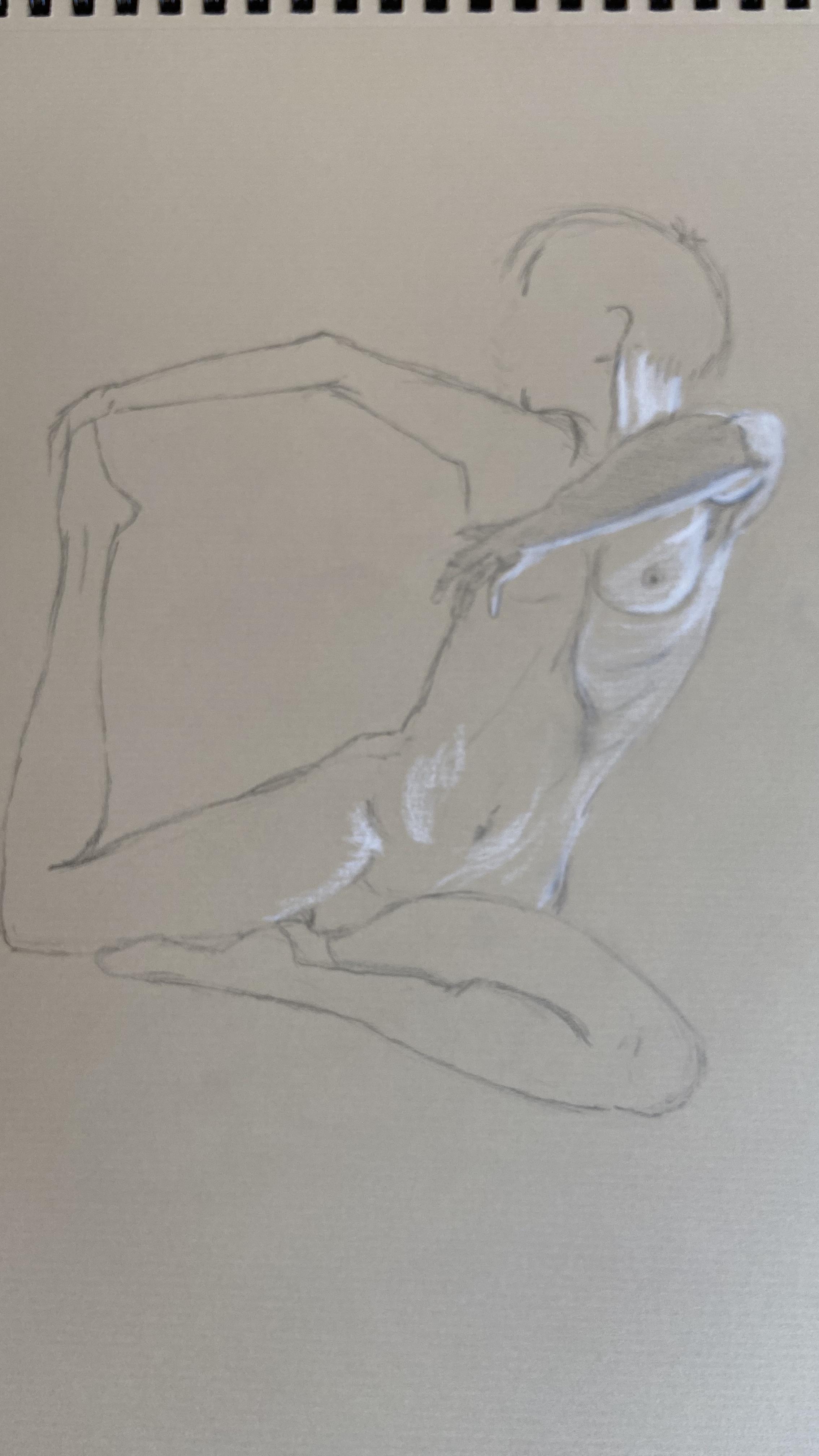Dessin avec réhausse de blanc  cours de dessin