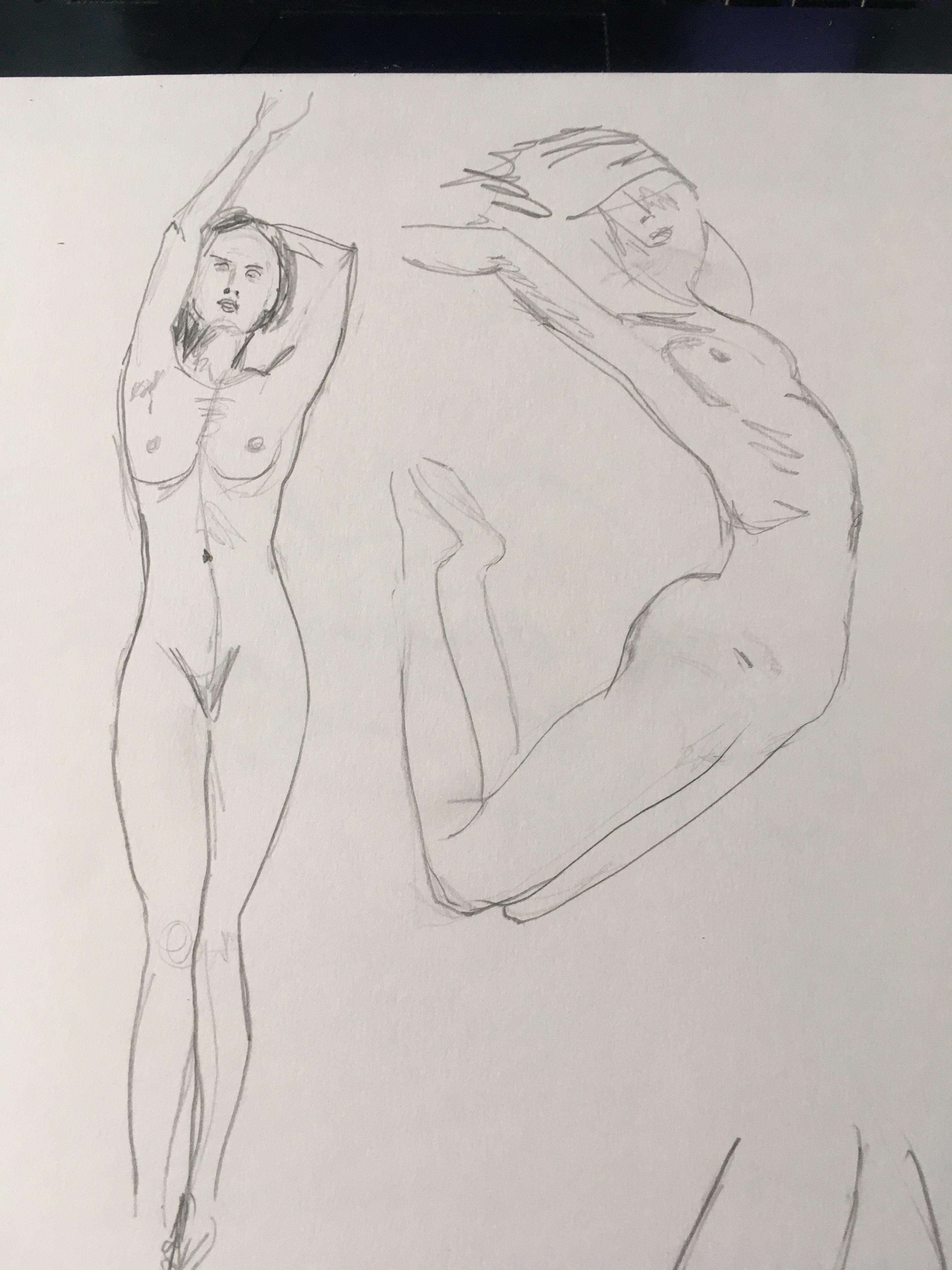 Esquisse rapide corps en mouvement  cours de dessin