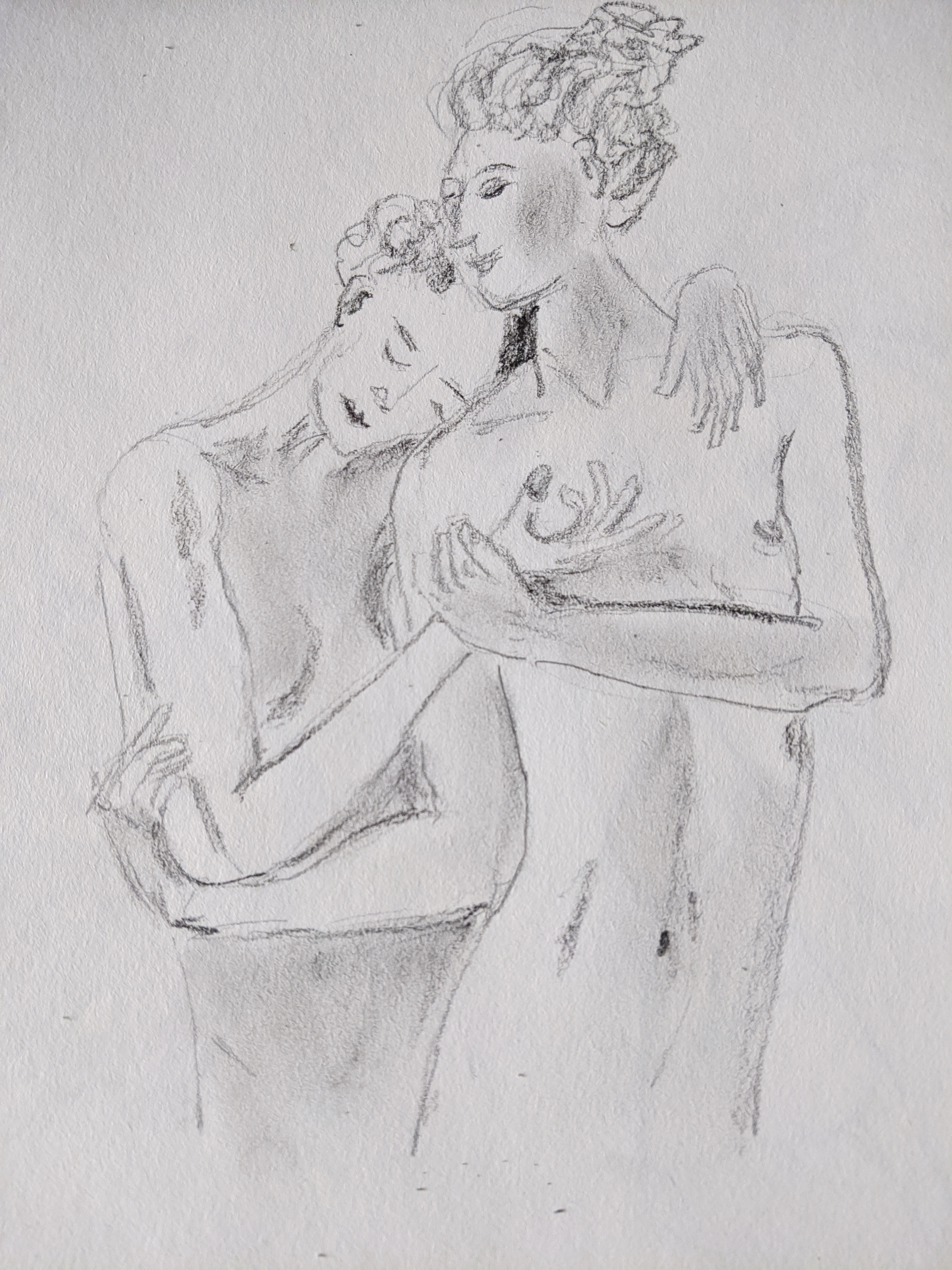 Dessin  couples modèles graphite  cours de dessin