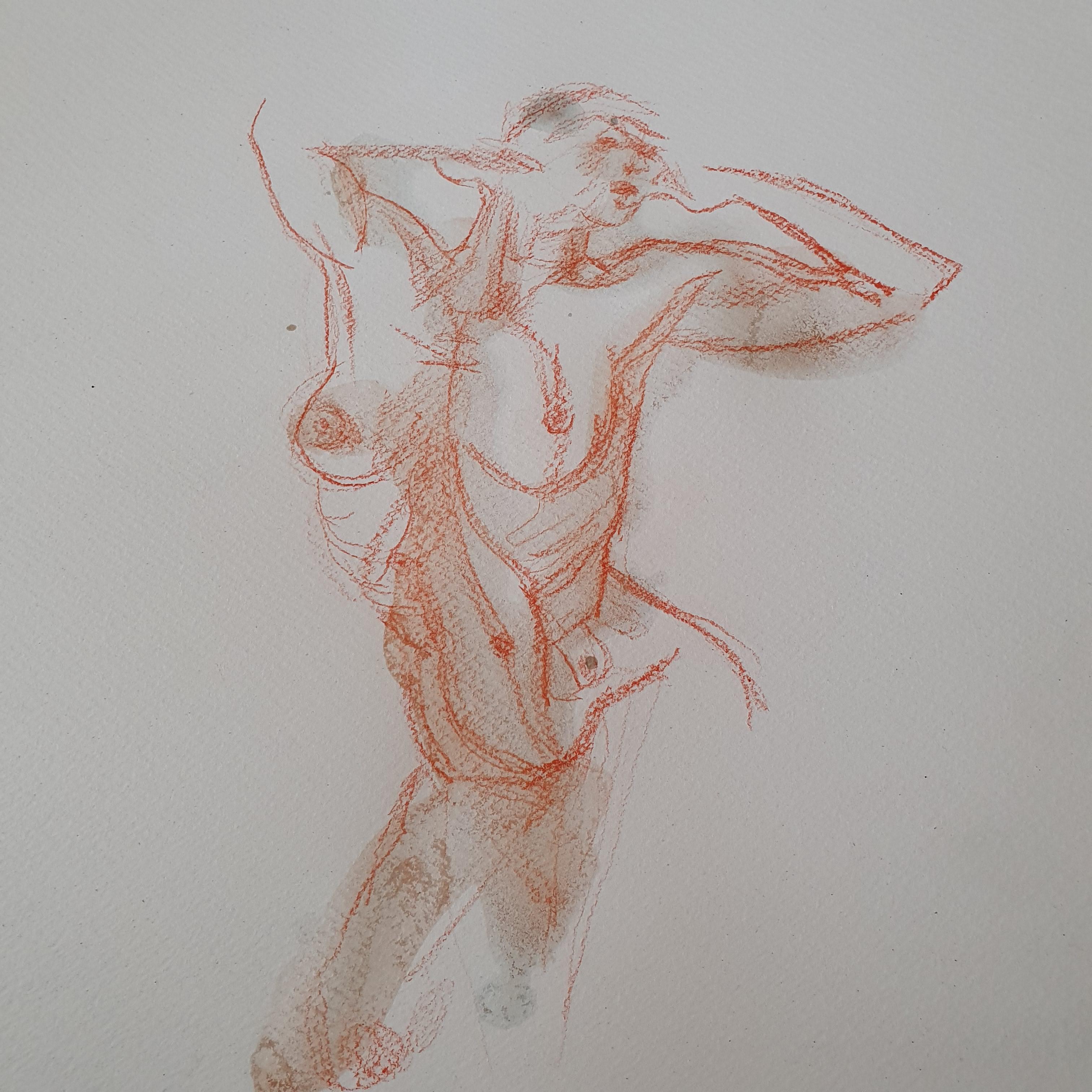 Buste sanguine eau croquis  cours de dessin