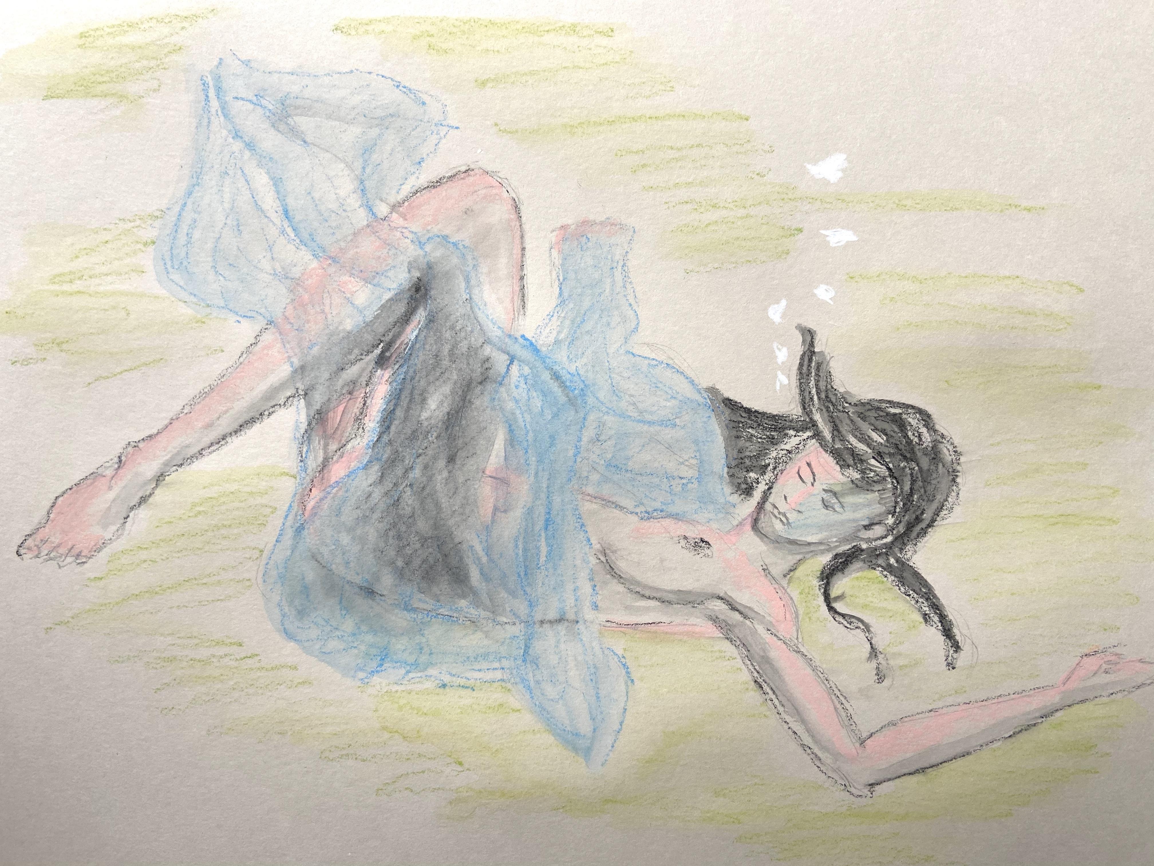 Crayon de couleur aquarelle dessin  cours de dessin
