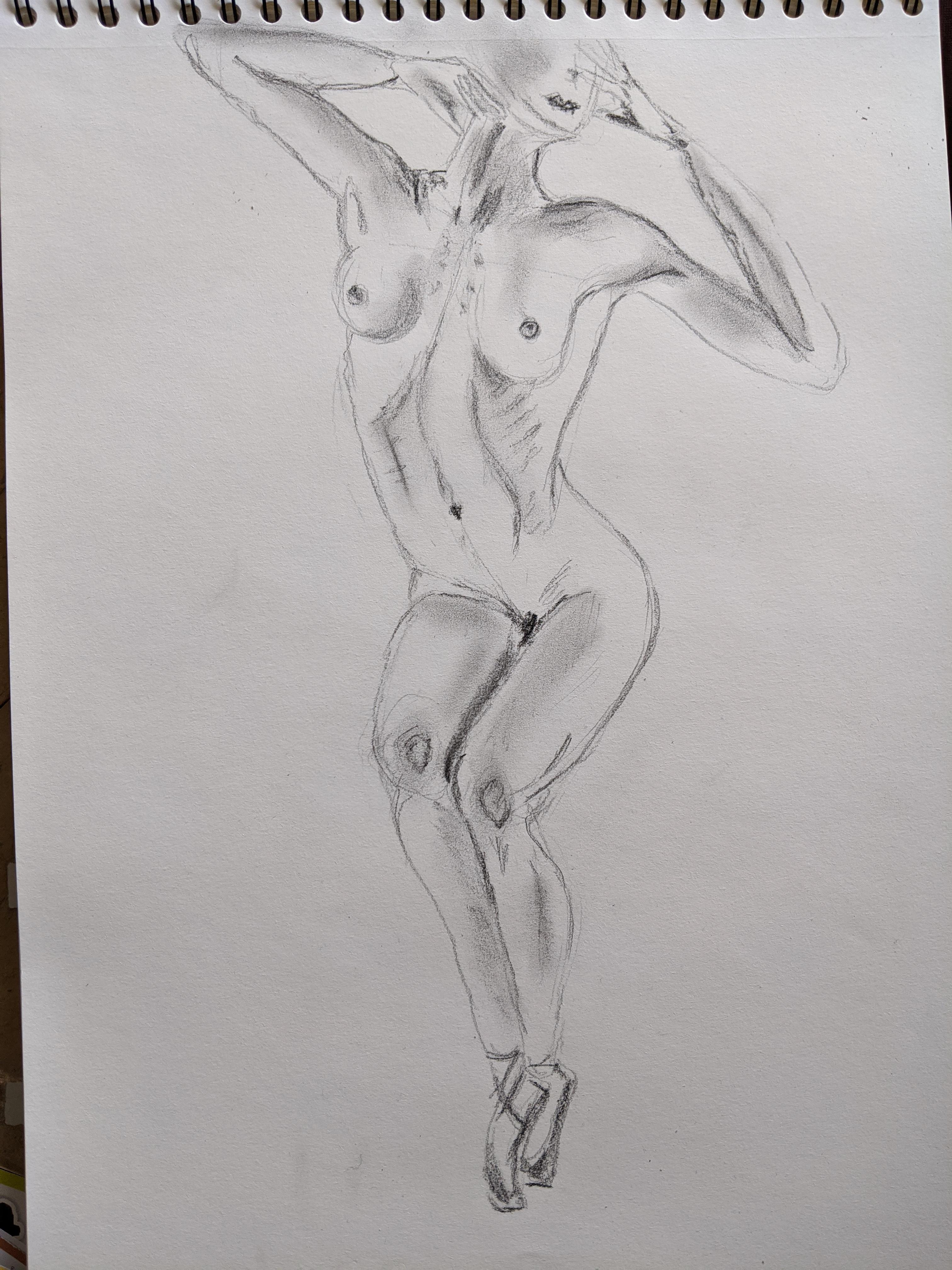 dessin fusain estompe sur papier  cours de dessin
