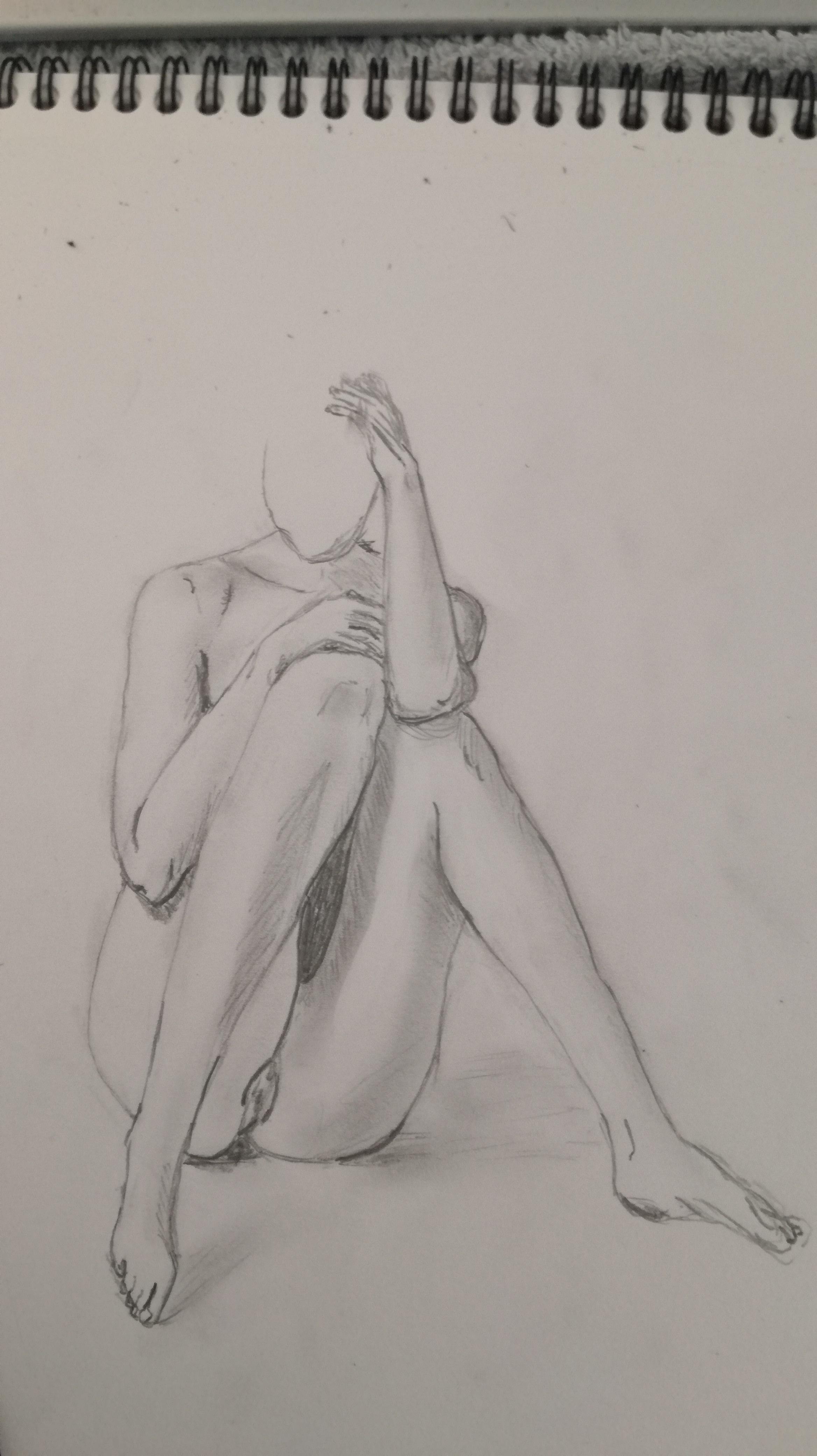 croquis rapide  mod�le assi  cours de dessin
