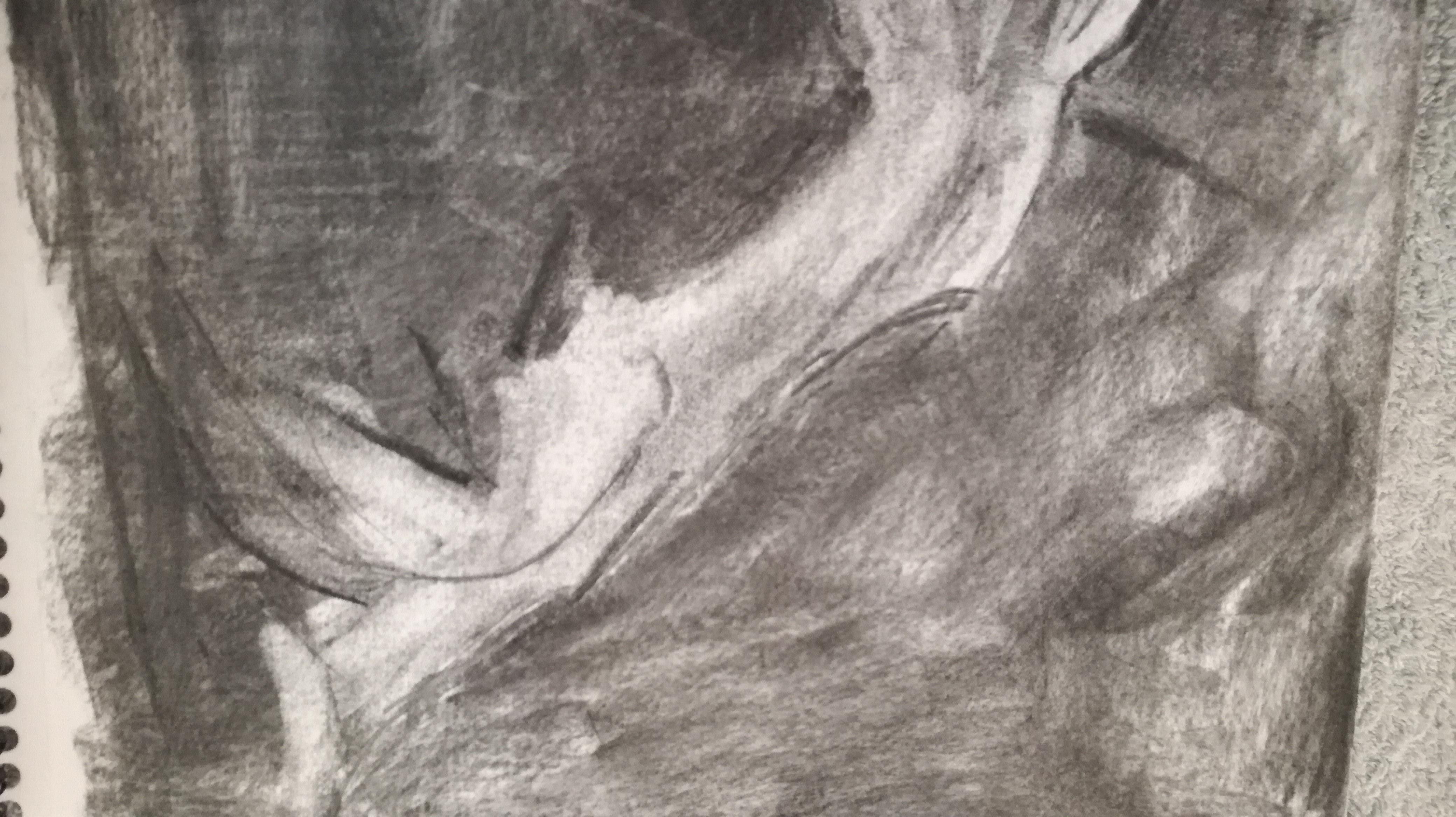 dessin fusain sur papier  cours de dessin