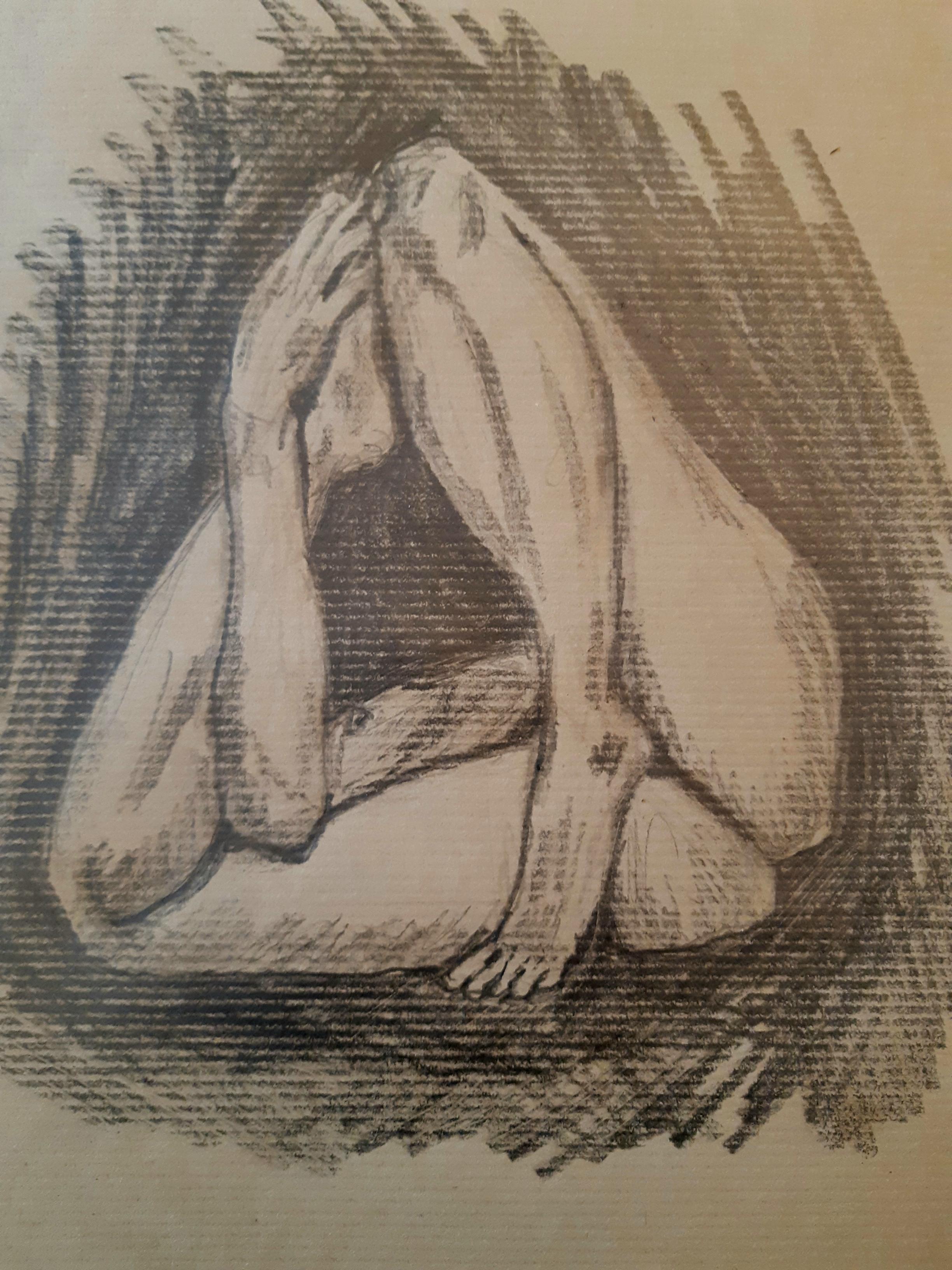 pause dessin mod�le vivant  g�om�trique  pierre noir  cours de dessin
