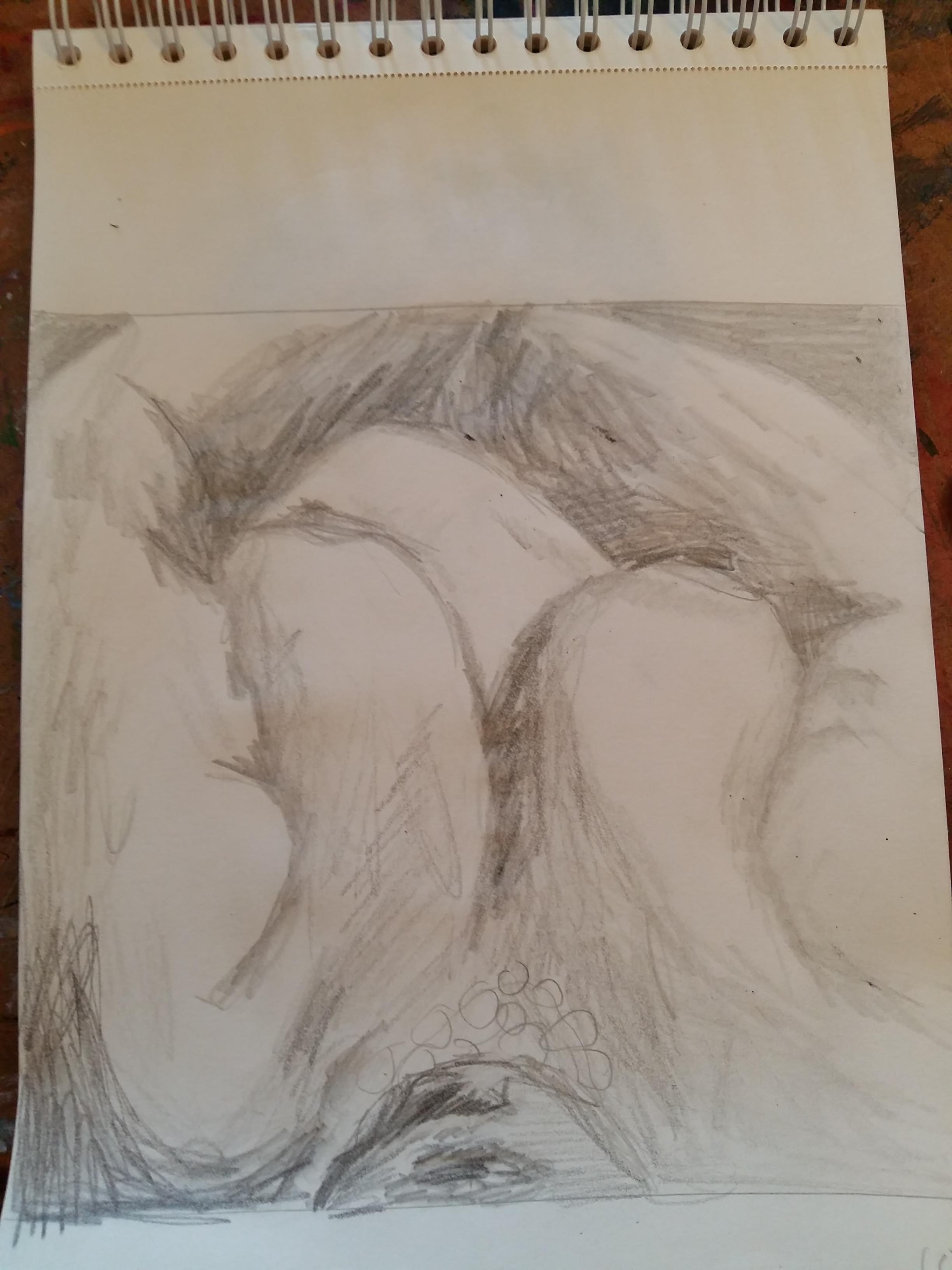 dessin gros plan buste crayon papier femme   cours de dessin
