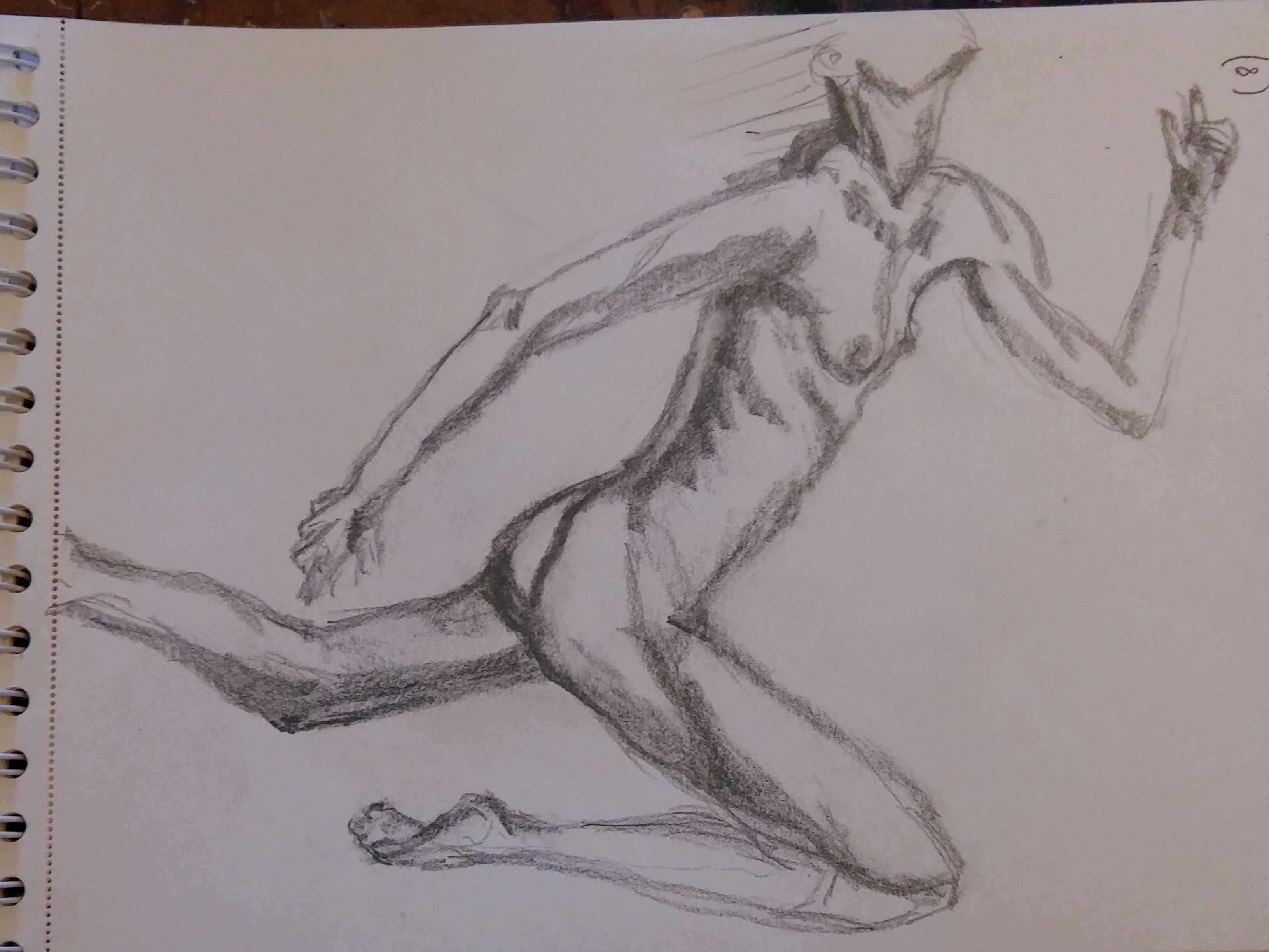 Dessin course femme torse crayon papier  cours de dessin