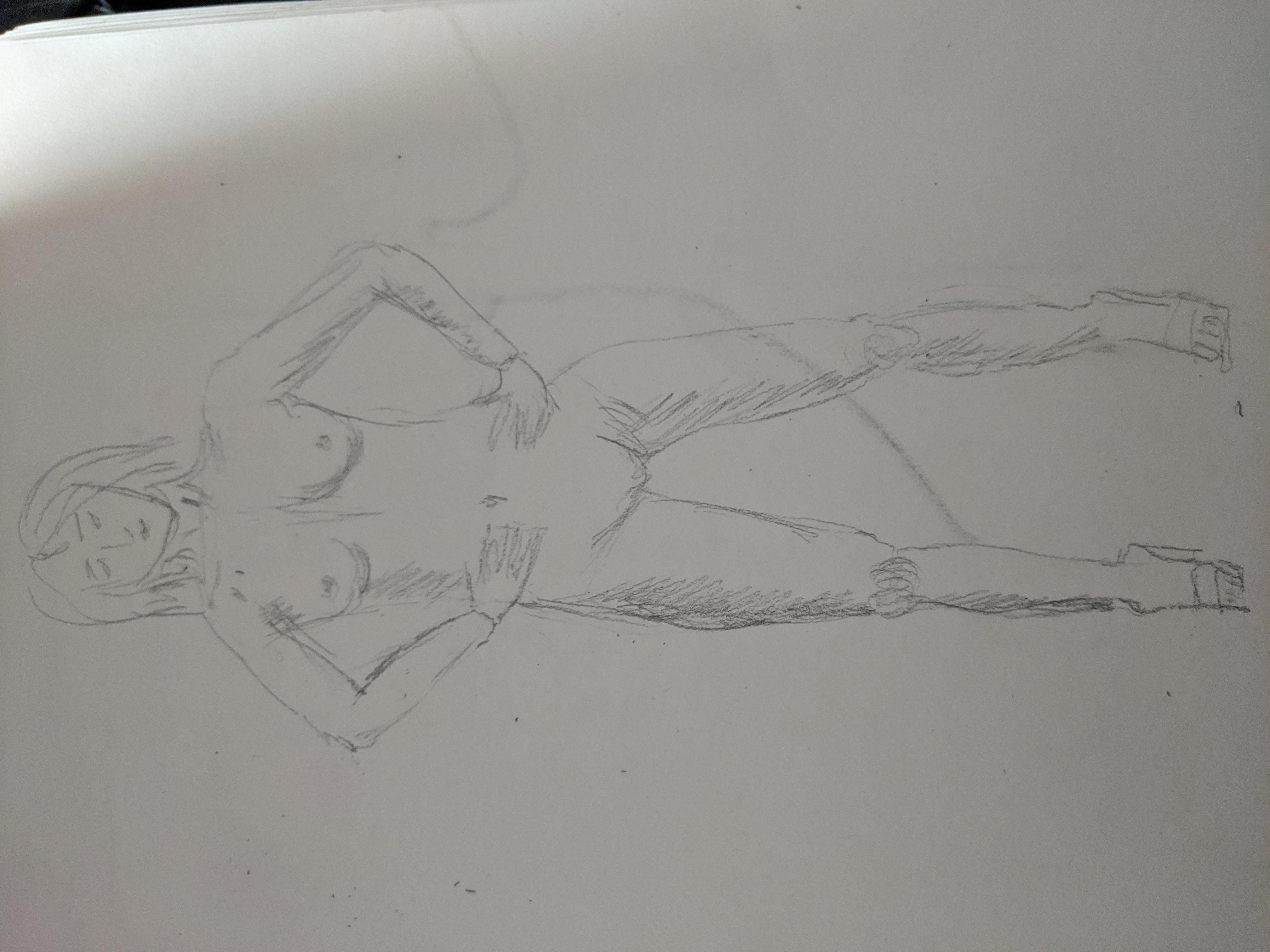 Dessin face niveau de gris crayon papier monochrome graphite  cours de dessin