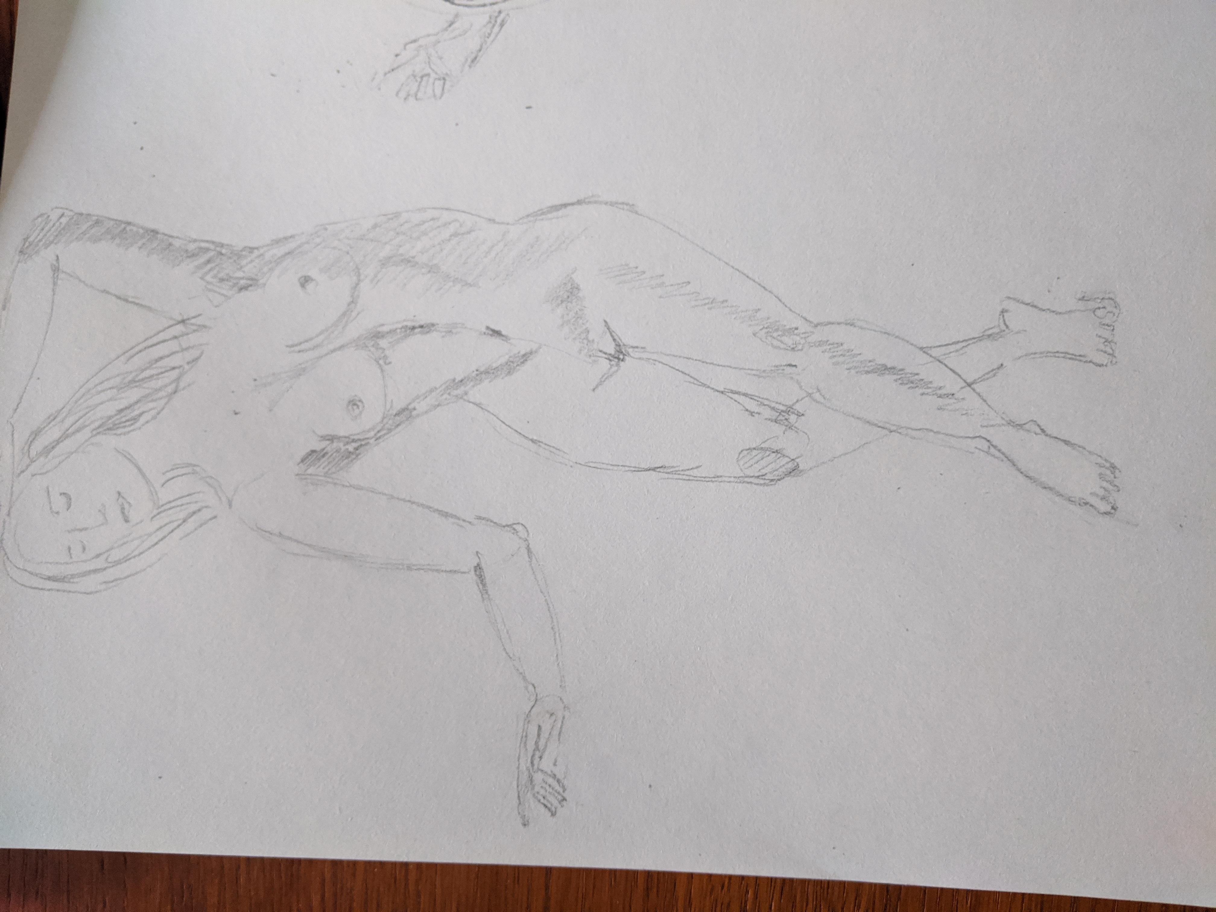 Dessin danseuse face crayon papier  cours de dessin