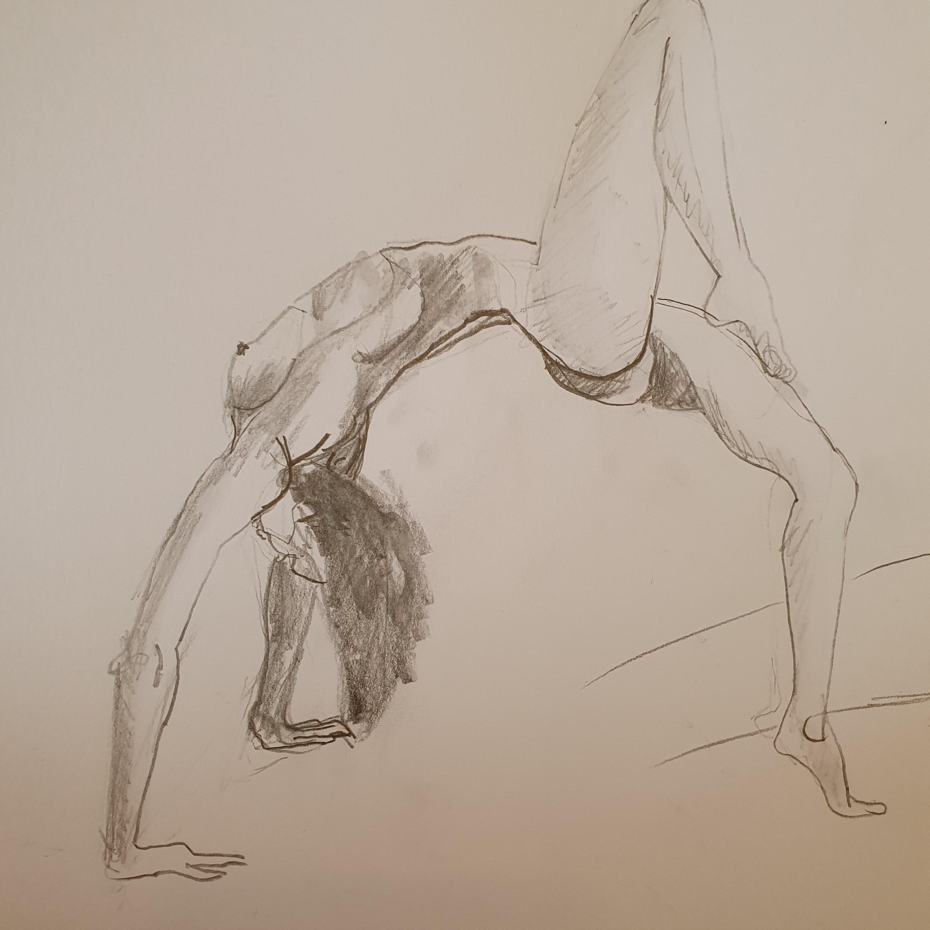 Dessin hachures graphite profil femme pont  cours de dessin