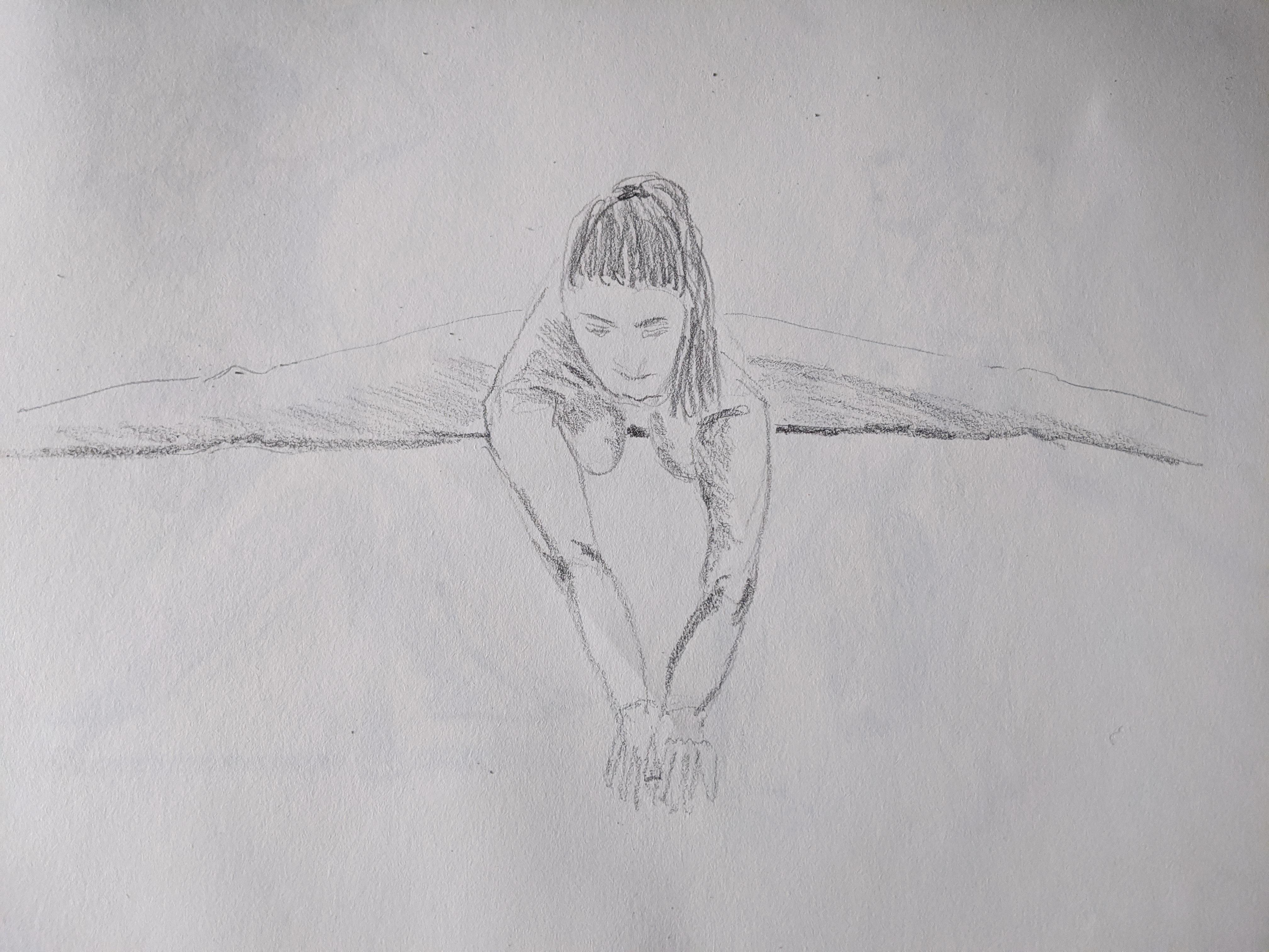 Dessin pose acrobatiques raccourcis face  cours de dessin