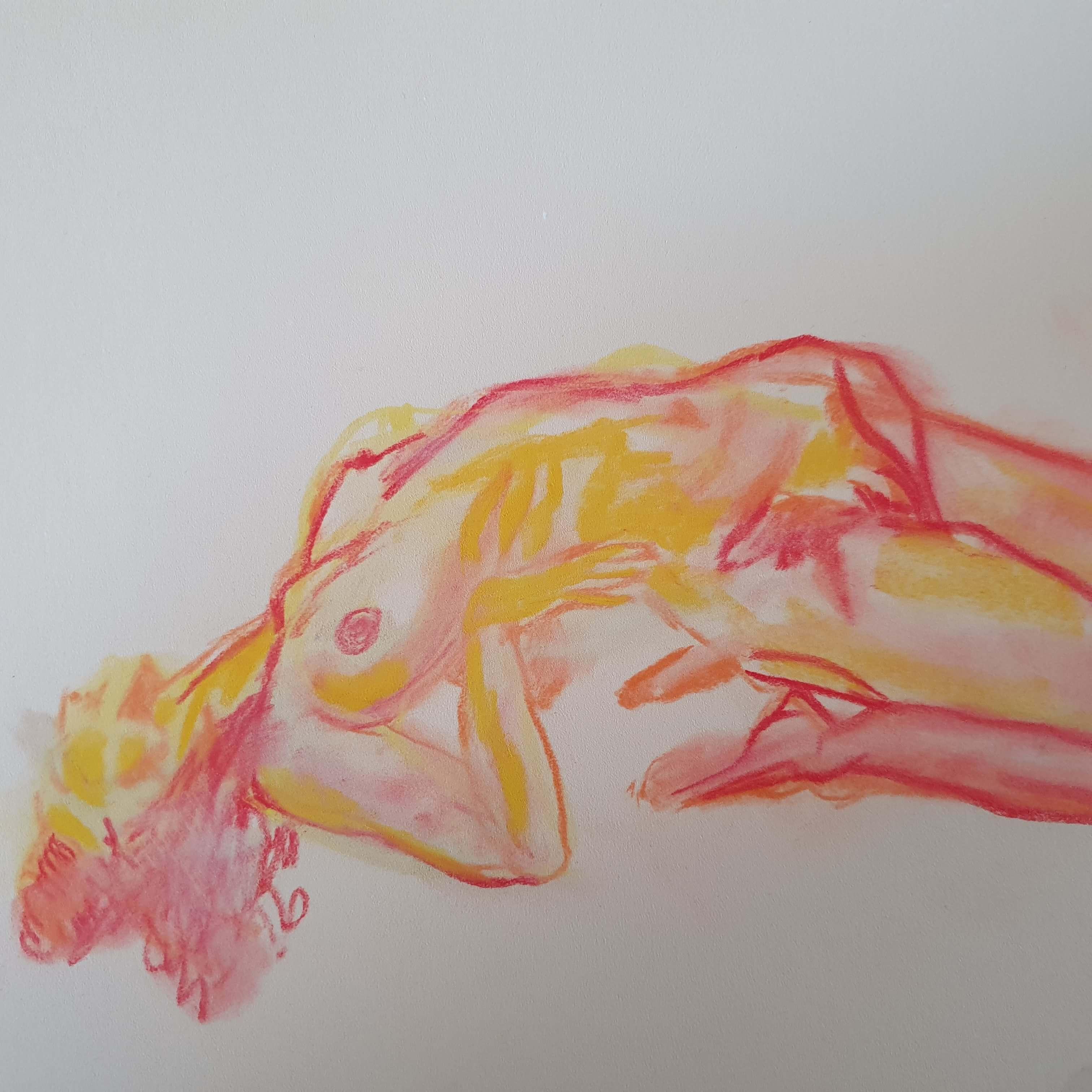 Pastel couleur mod�le vivant  cours de dessin