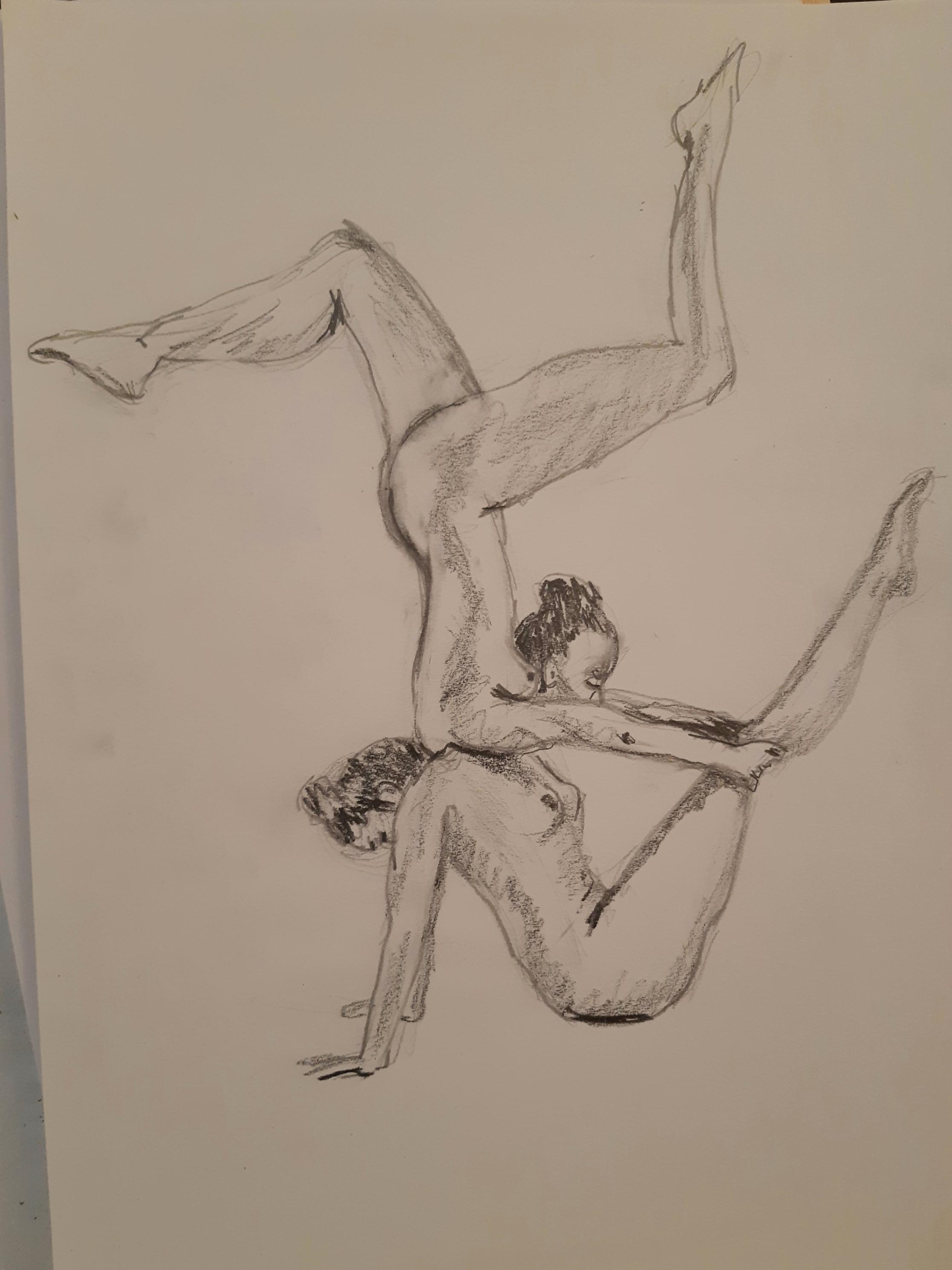Dessin équilibriste crayon de papier  cours de dessin