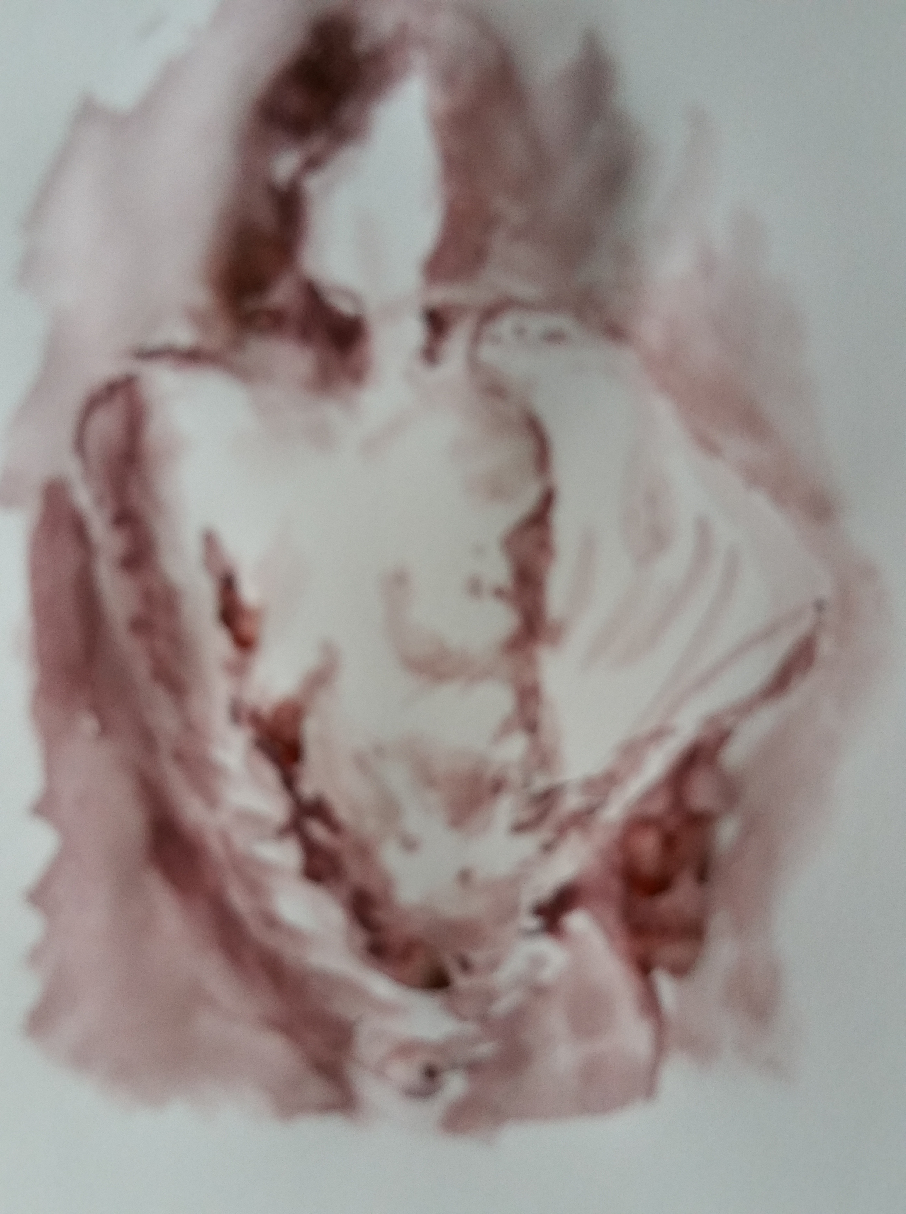 Dessin aquarelle buste de femme avec draper monochrome  cours de dessin
