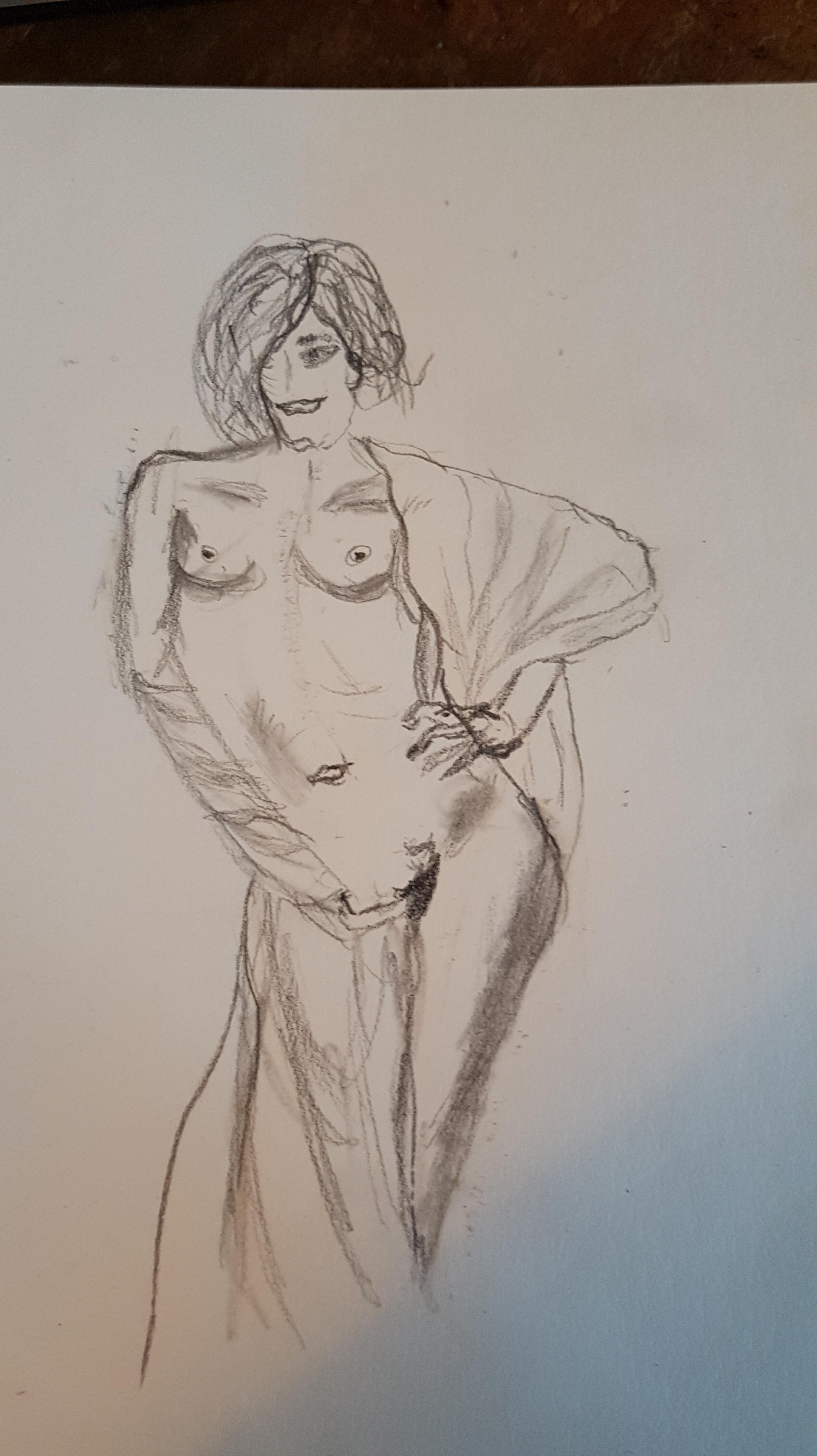 Dessin portraits femmes mon pied avec draper graphite  cours de dessin