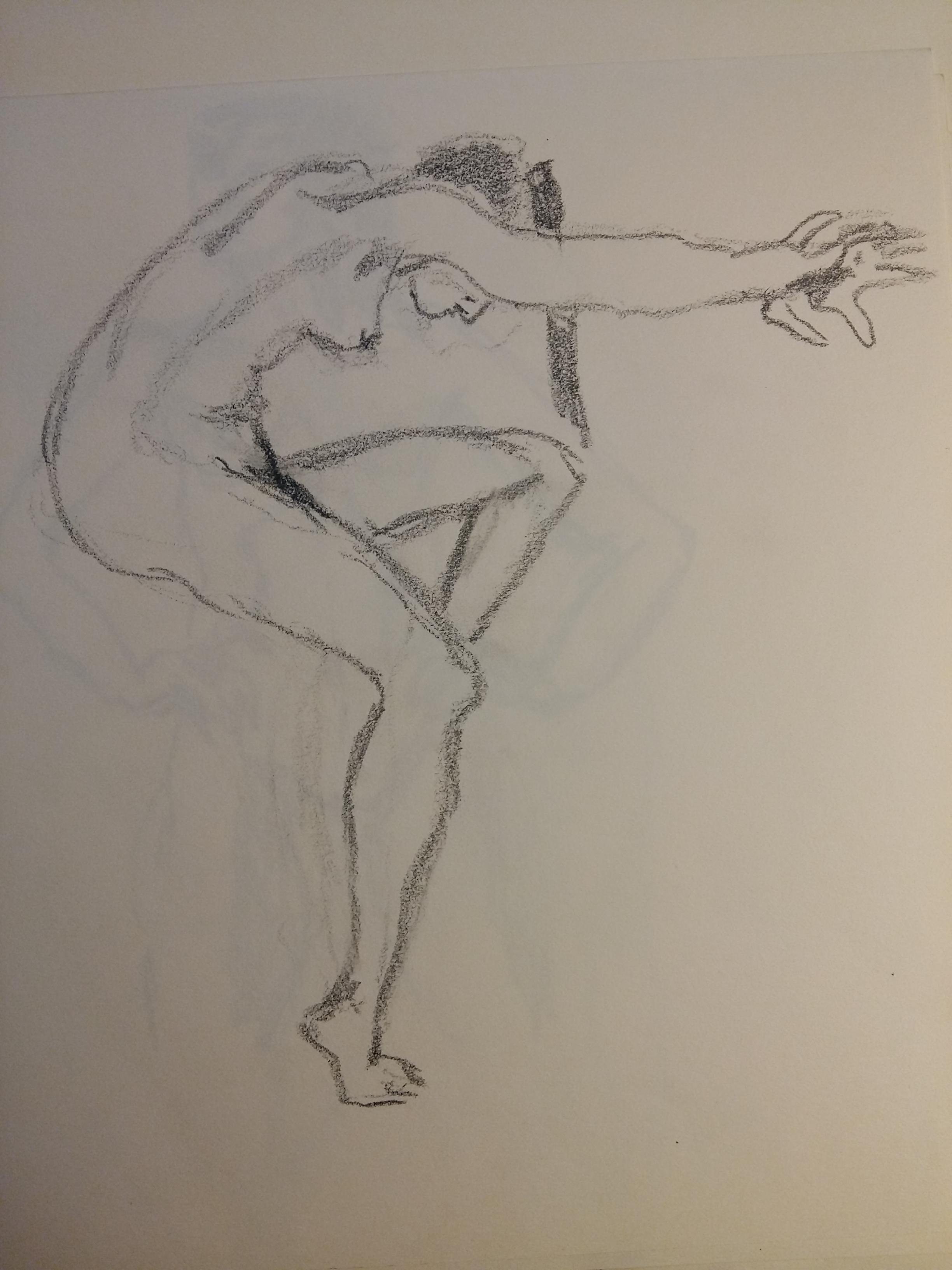 Esquisse sur papier graphite en valeur  cours de dessin