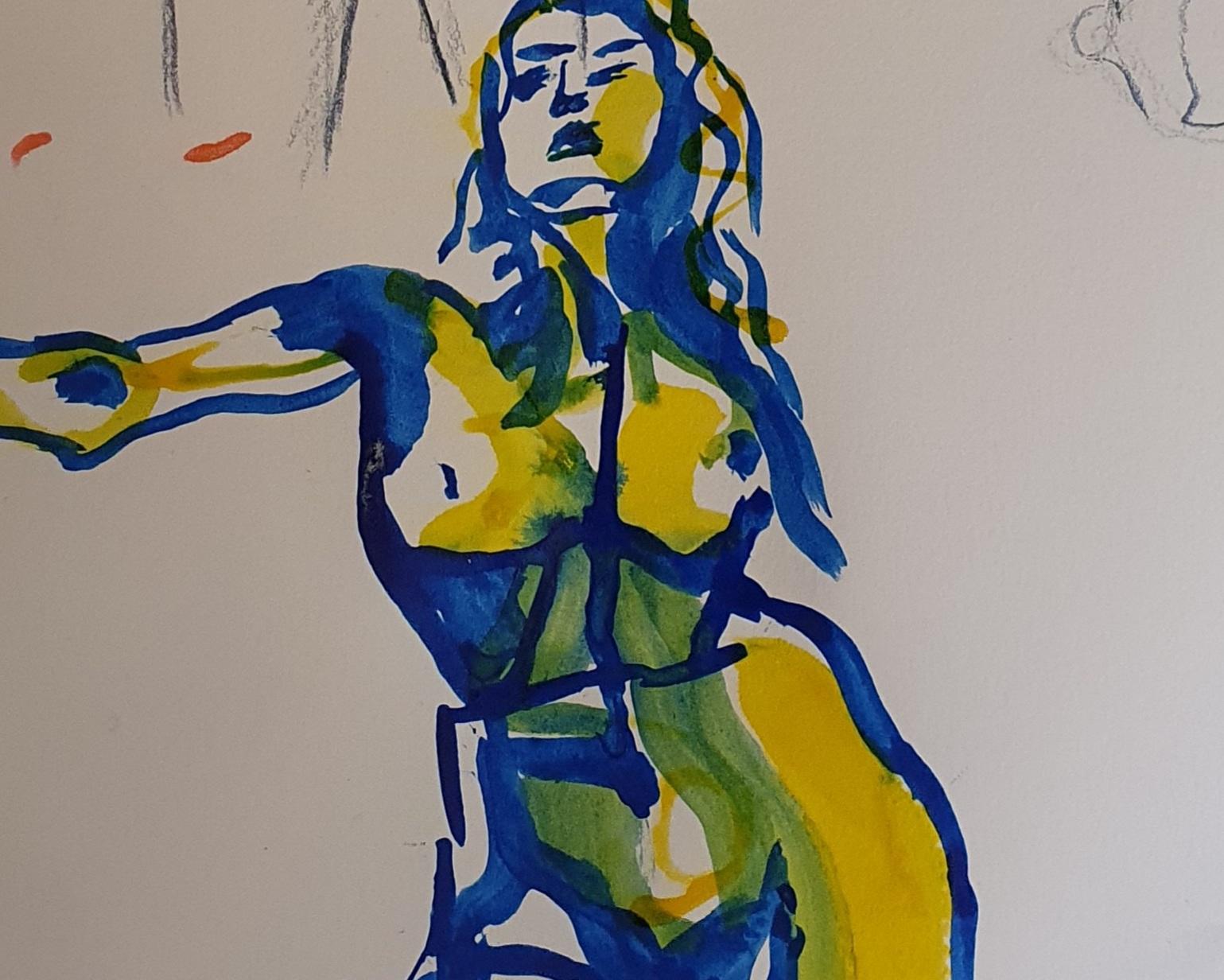 Peinture � plat polychromes  cours de dessin