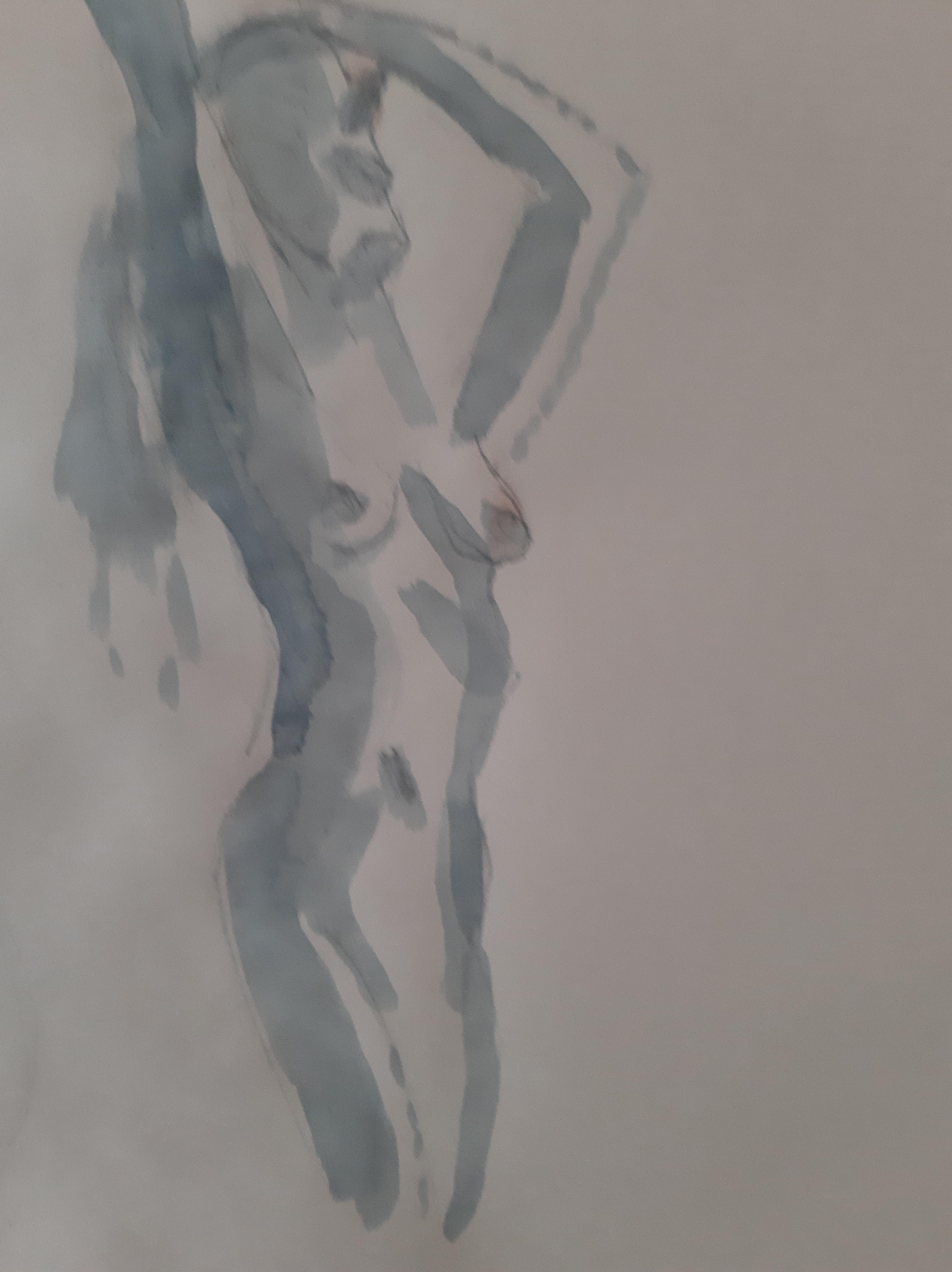 Dessin cama�eu  femme trois quarts face  cours de dessin