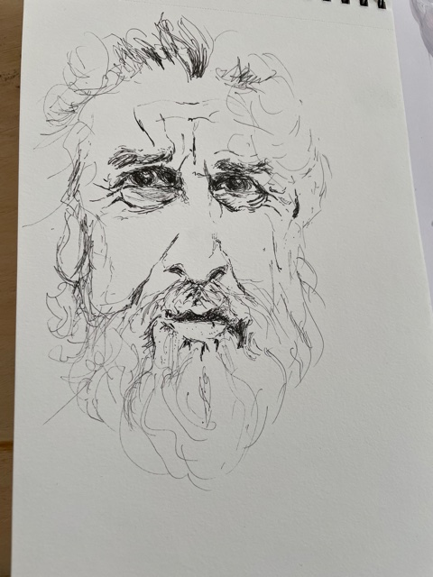 Portrait au traits fusain   cours de dessin