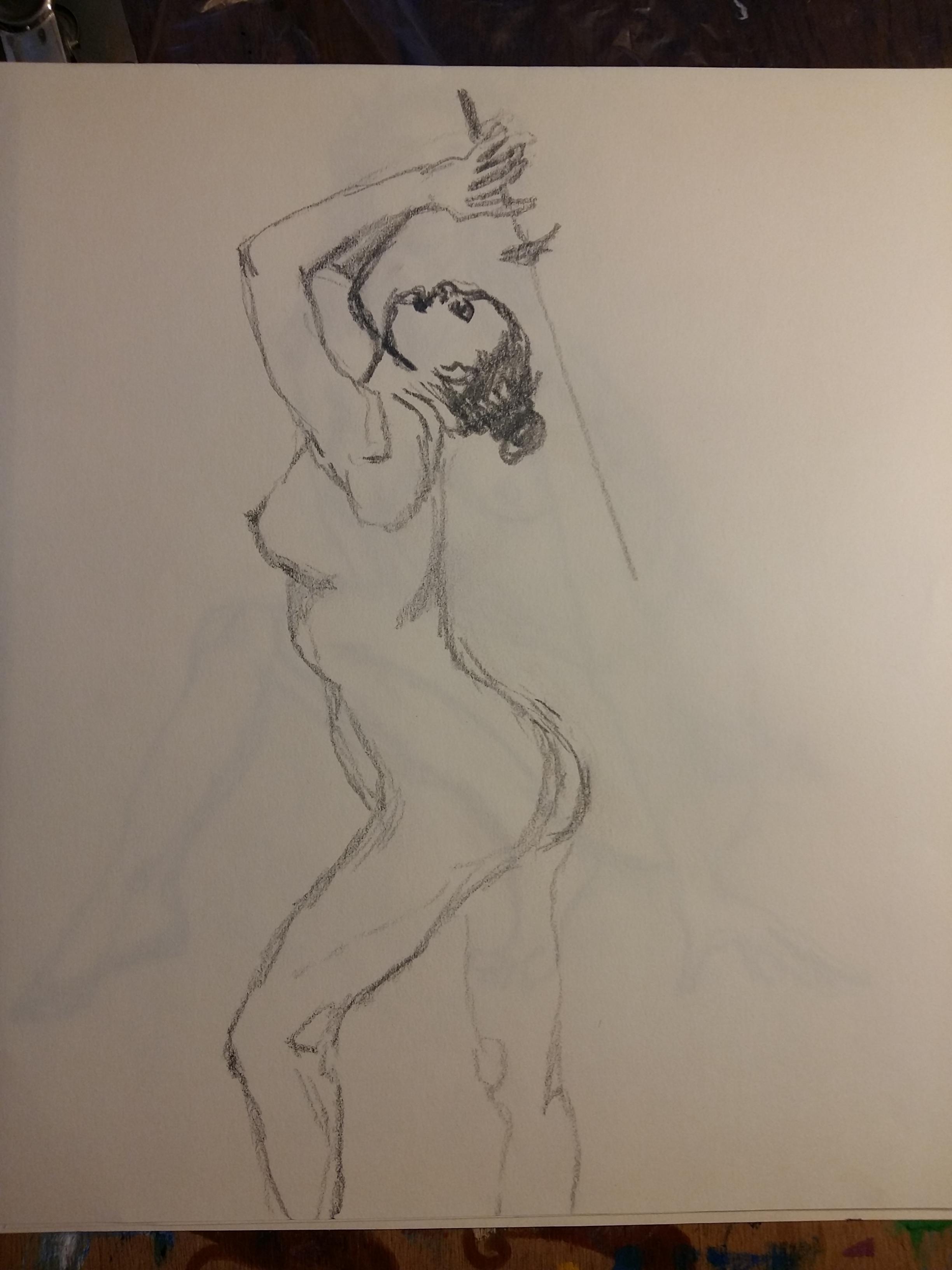 Dessin profil escrime face crayon papier  cours de dessin