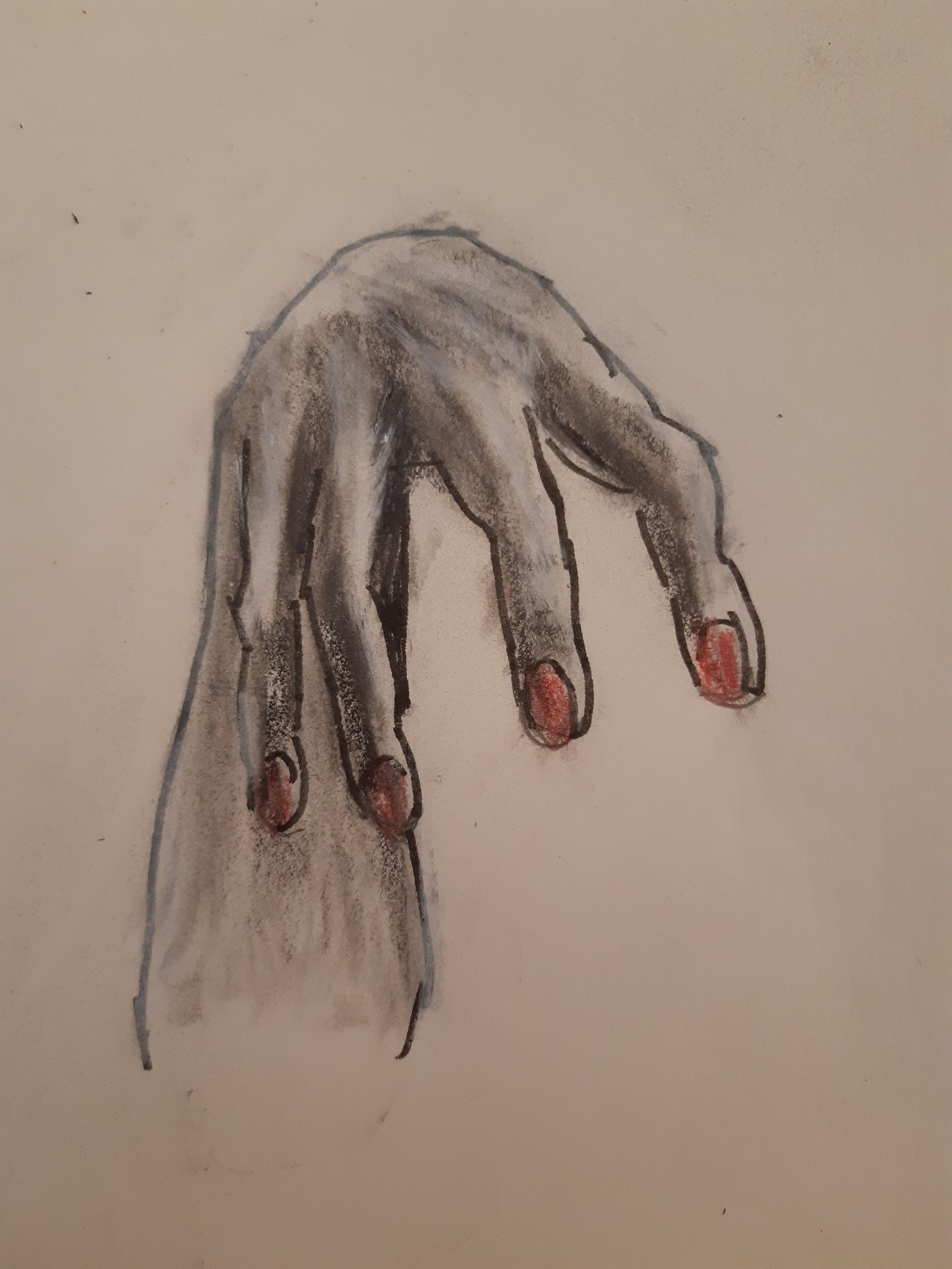 �tude dessin doit ongles  cours de dessin