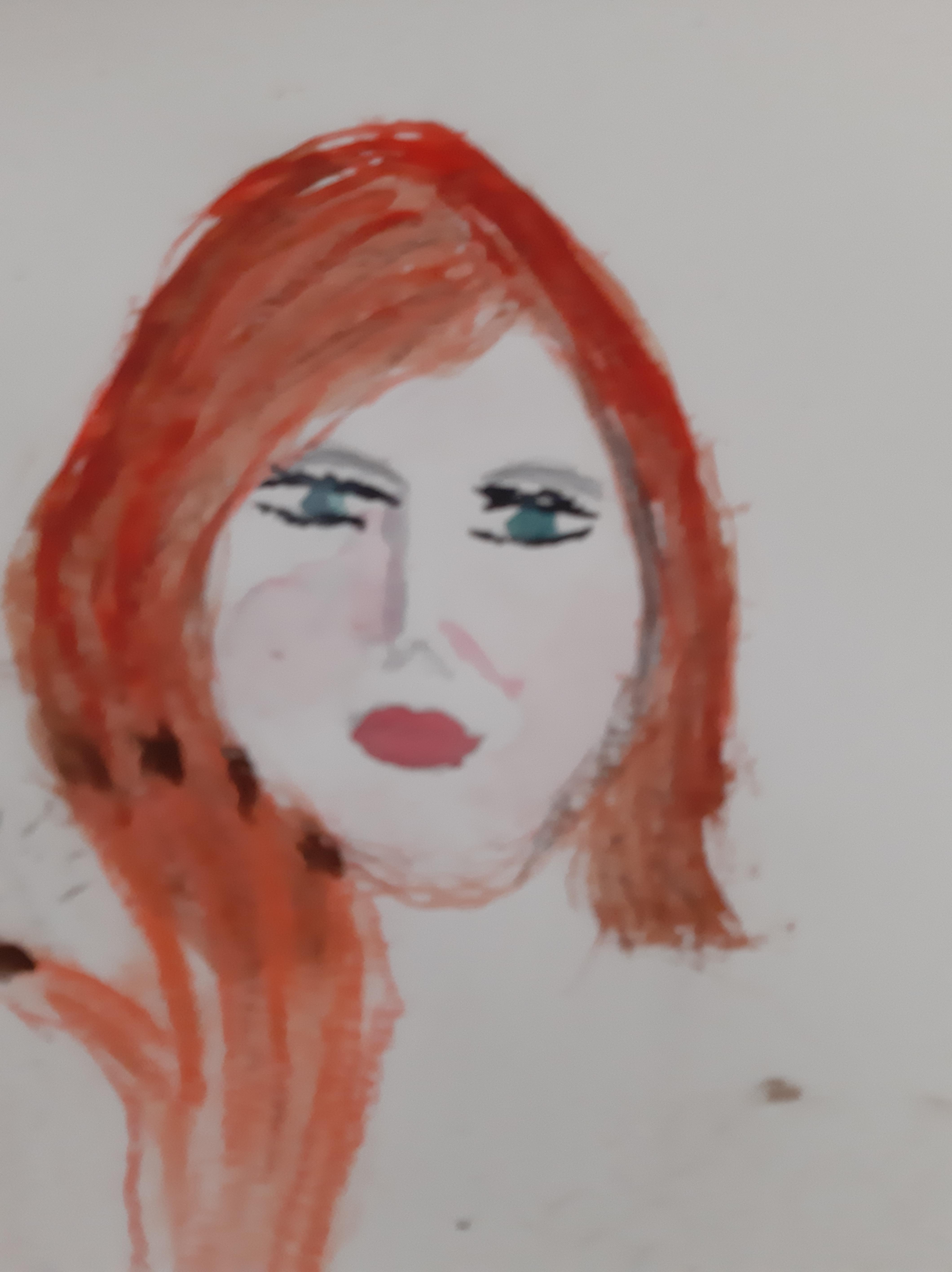 Portrait face aquarelles pastels polychromes femmes  cours de dessin