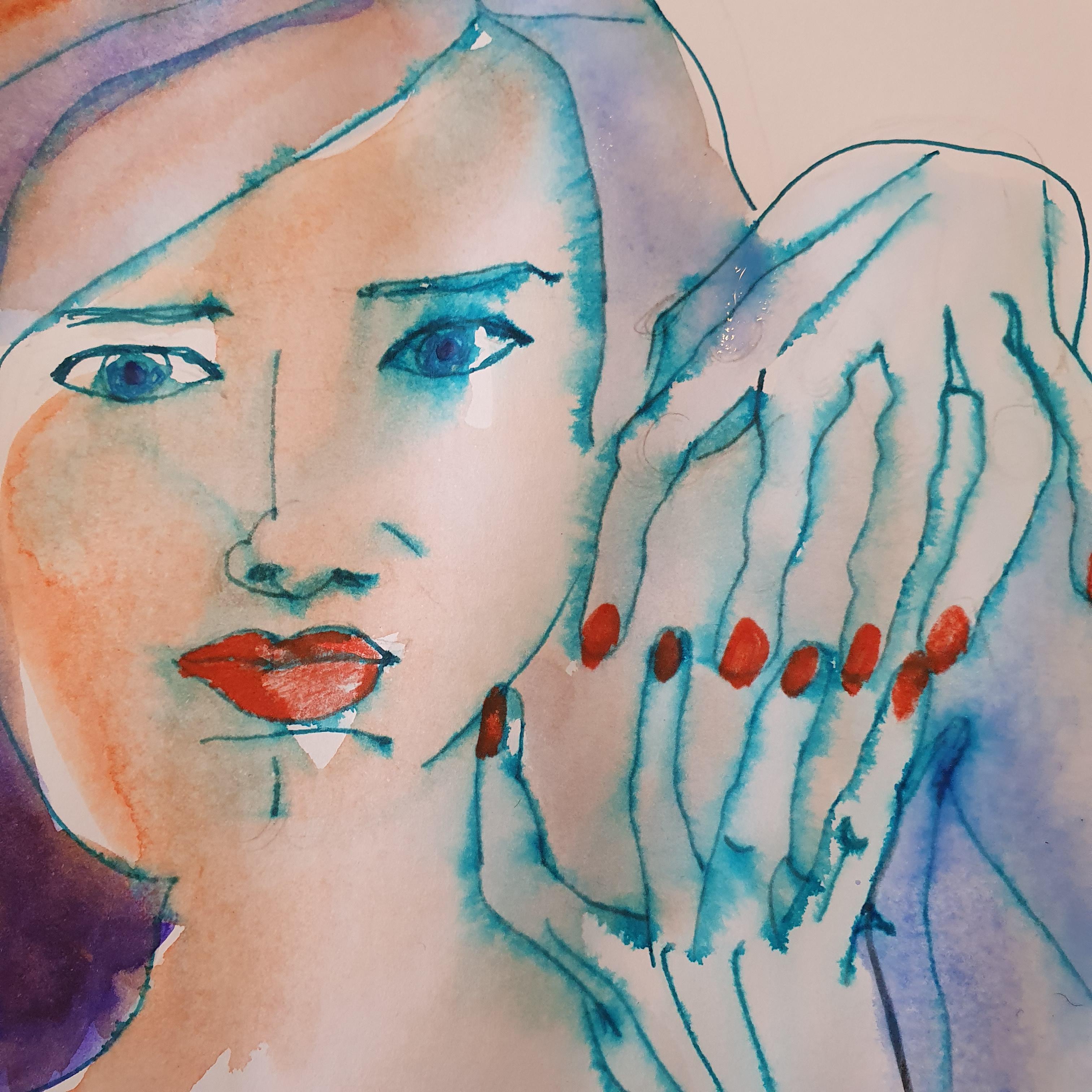 Dessin polychromes portraits main  cours de dessin