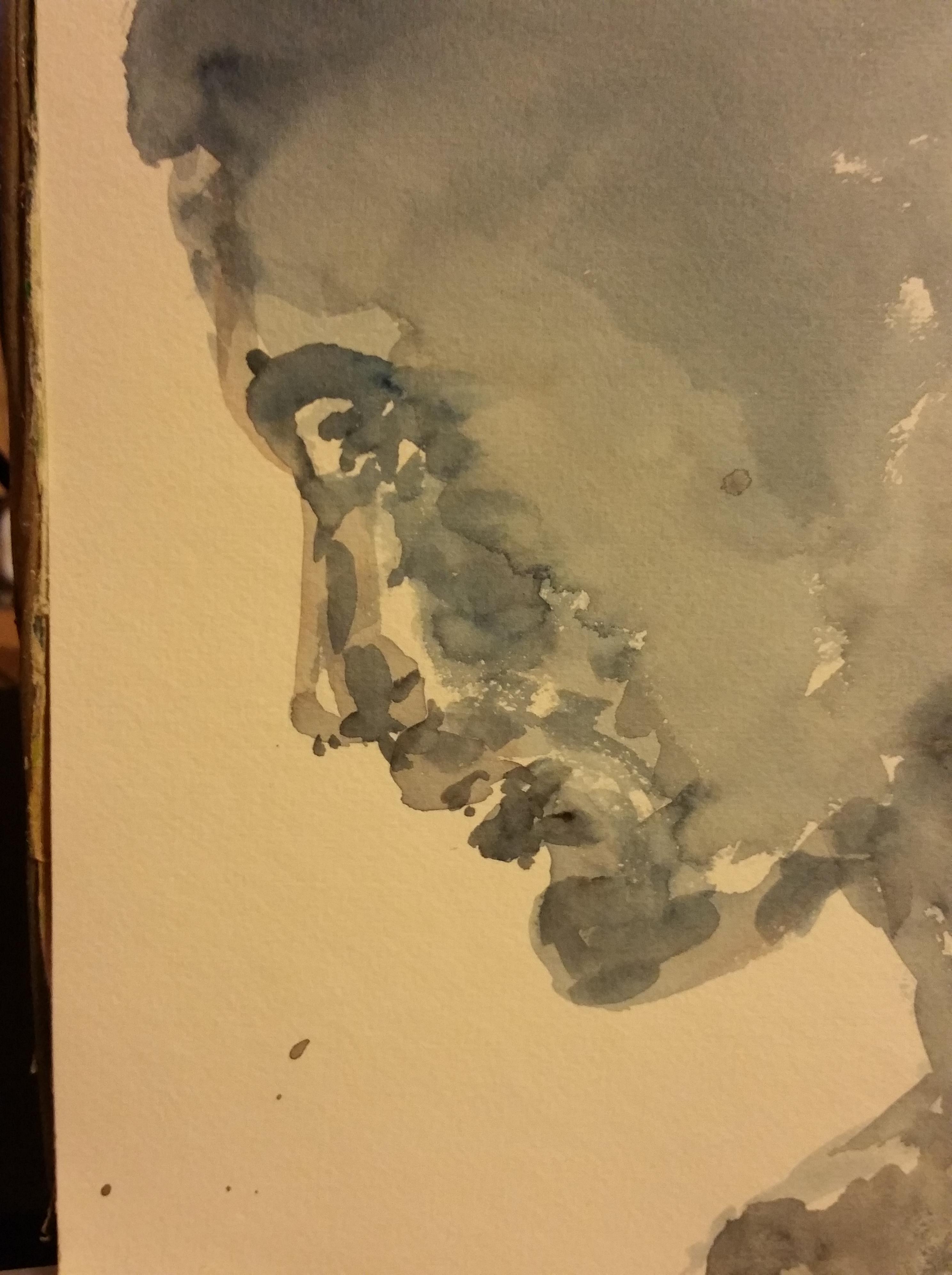 Portrait profil aquarelle  cours de dessin
