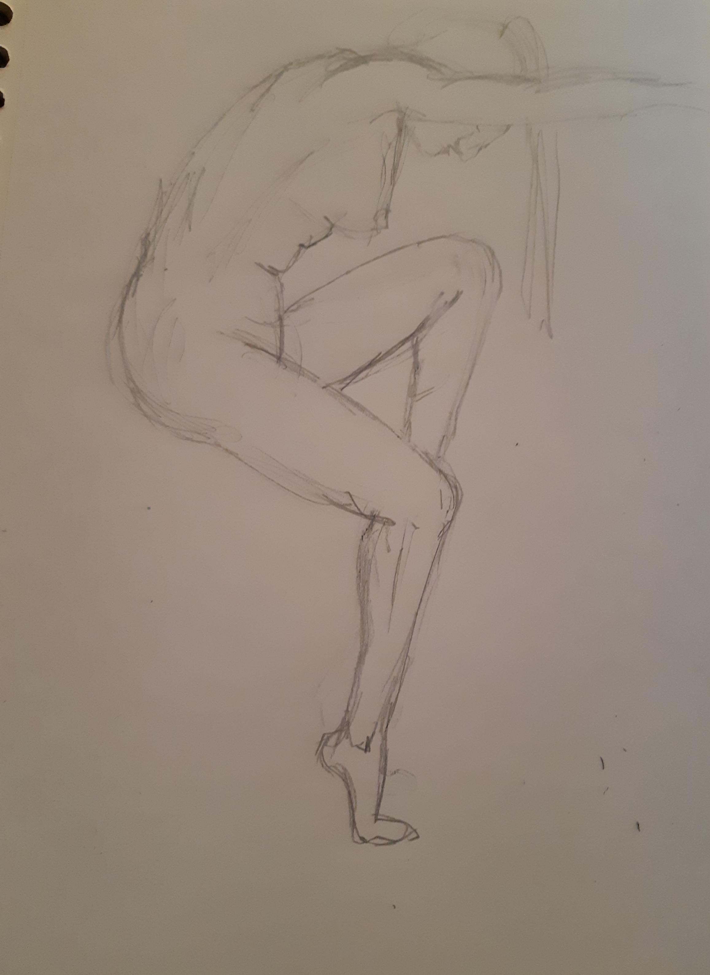 Esquisse rapide mine de plomb femme profil  cours de dessin