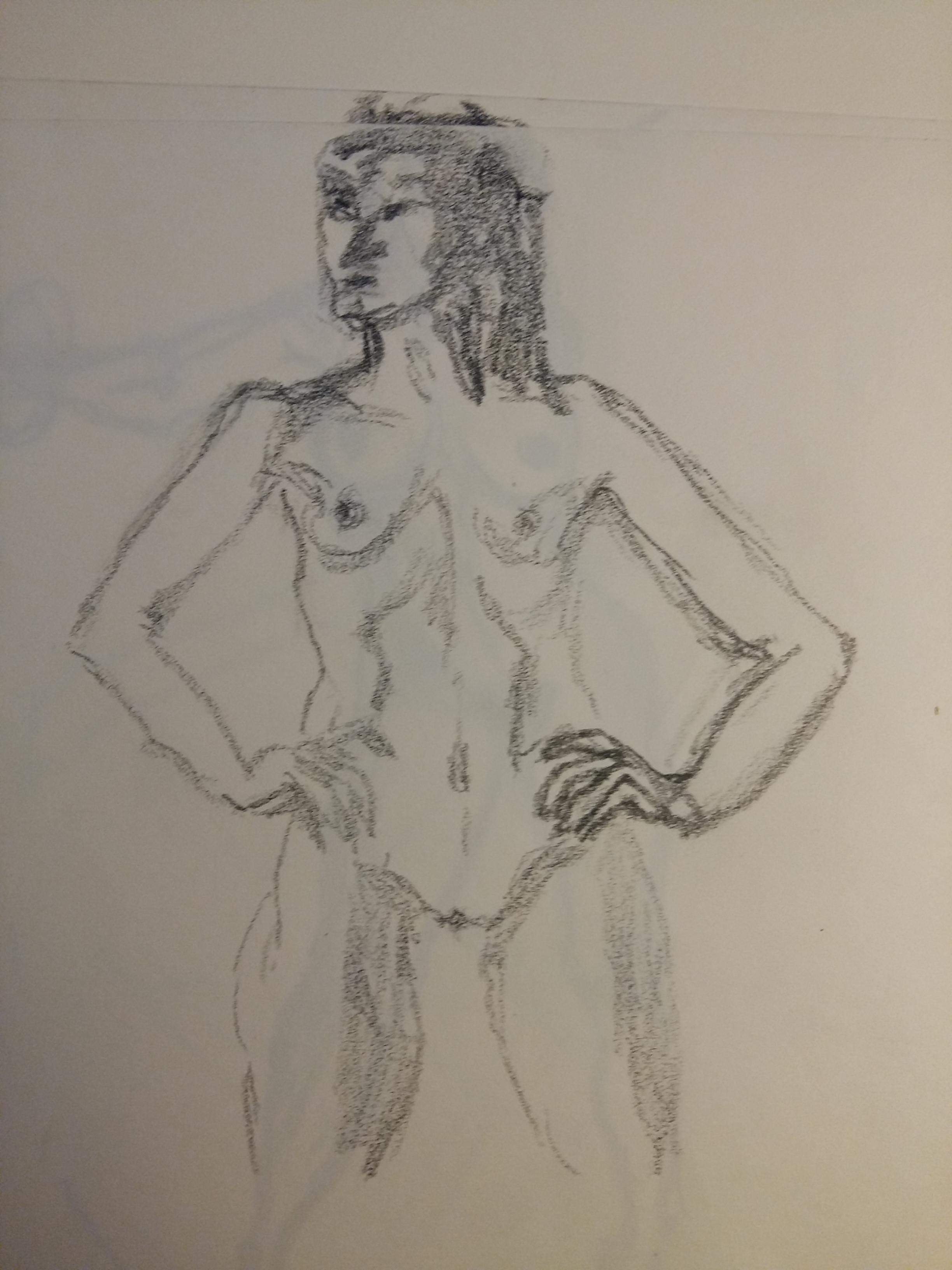 Esquisse crayon papier femme face sur papier  cours de dessin