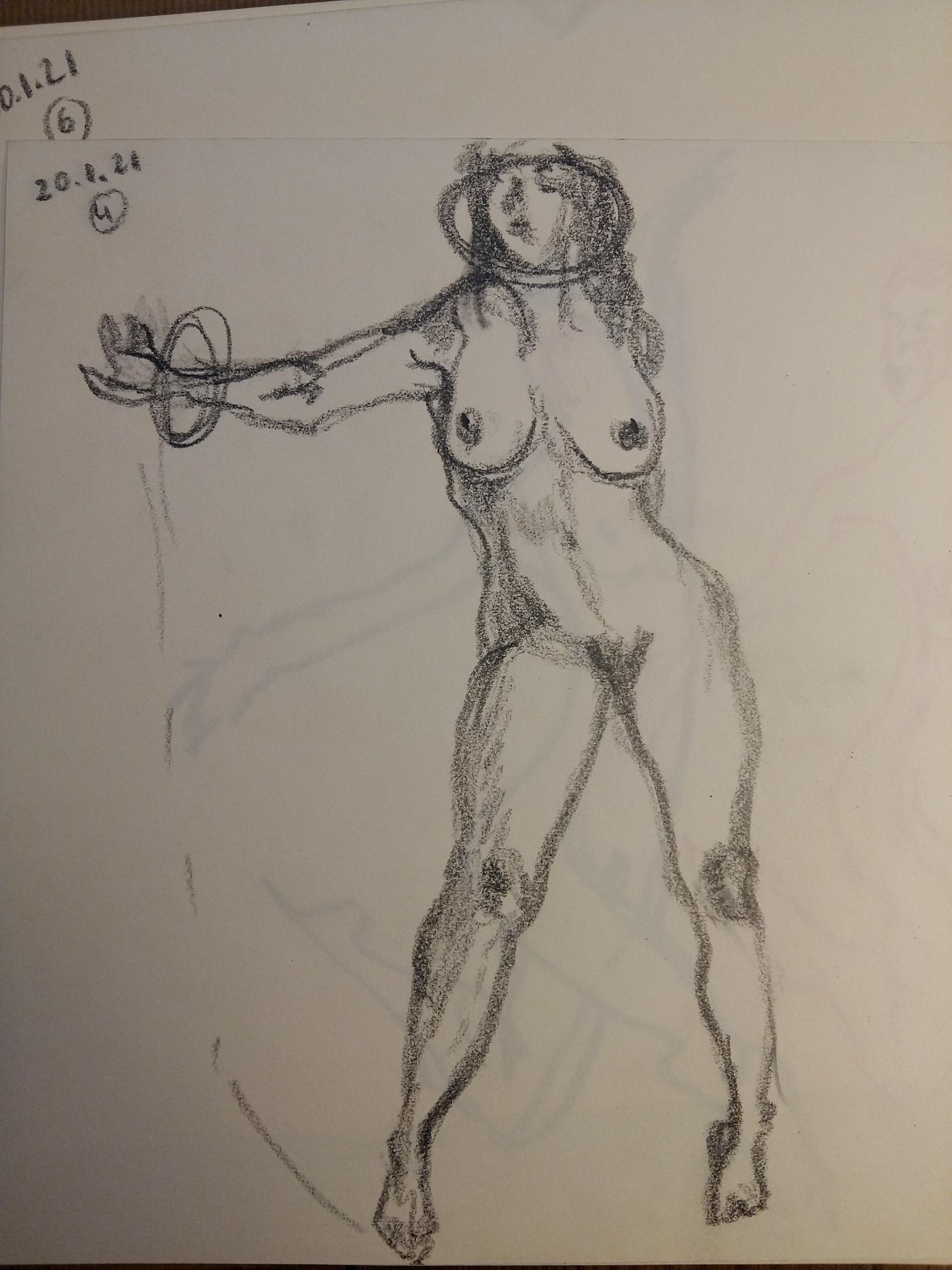 �tude dessin crayon papier femme face  cours de dessin