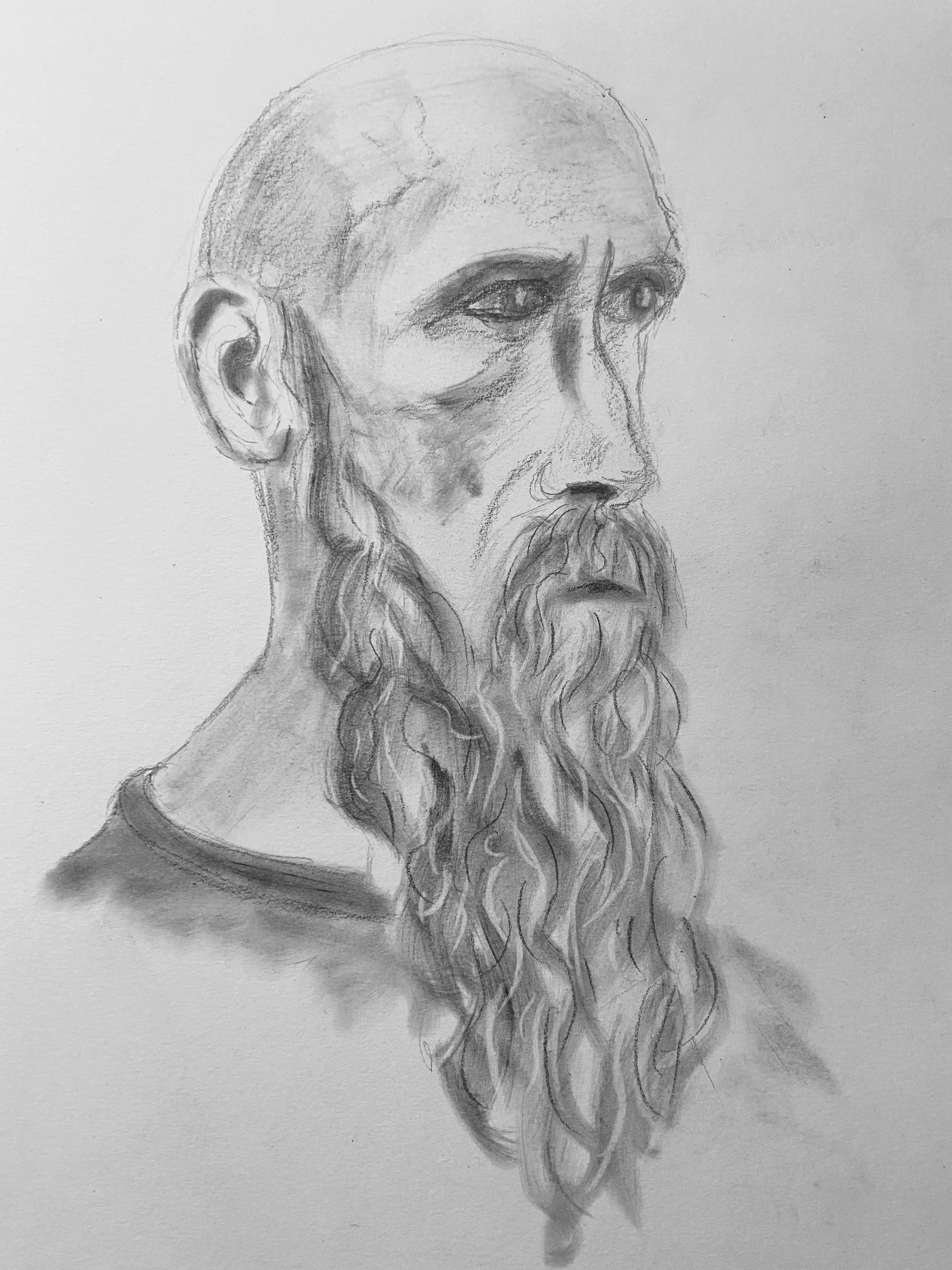 Portrait estompe croquis pastels  cours de dessin