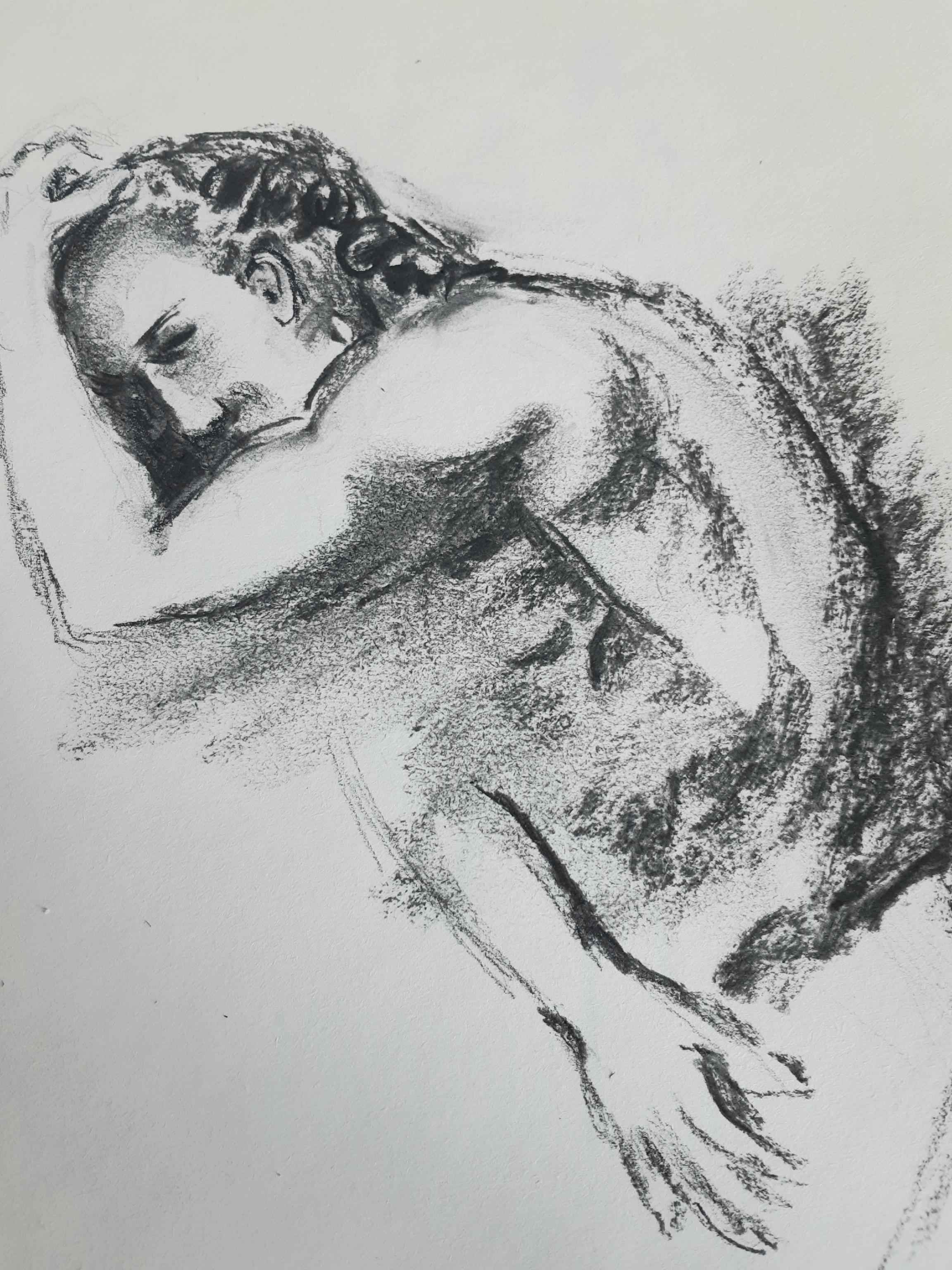 Esquisse fusain dessin  cours de dessin