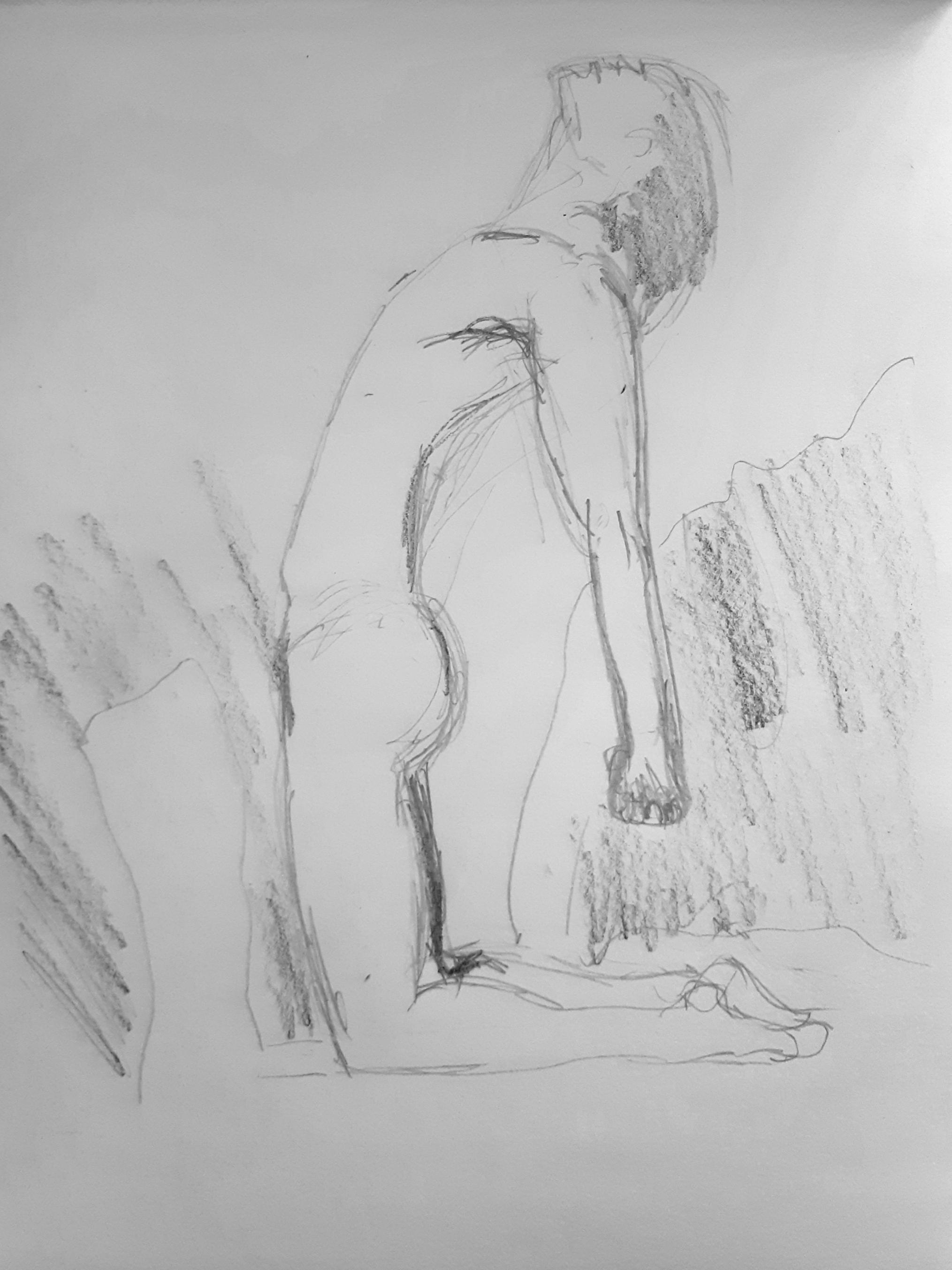 Esquisse rapide corps graphite  cours de dessin