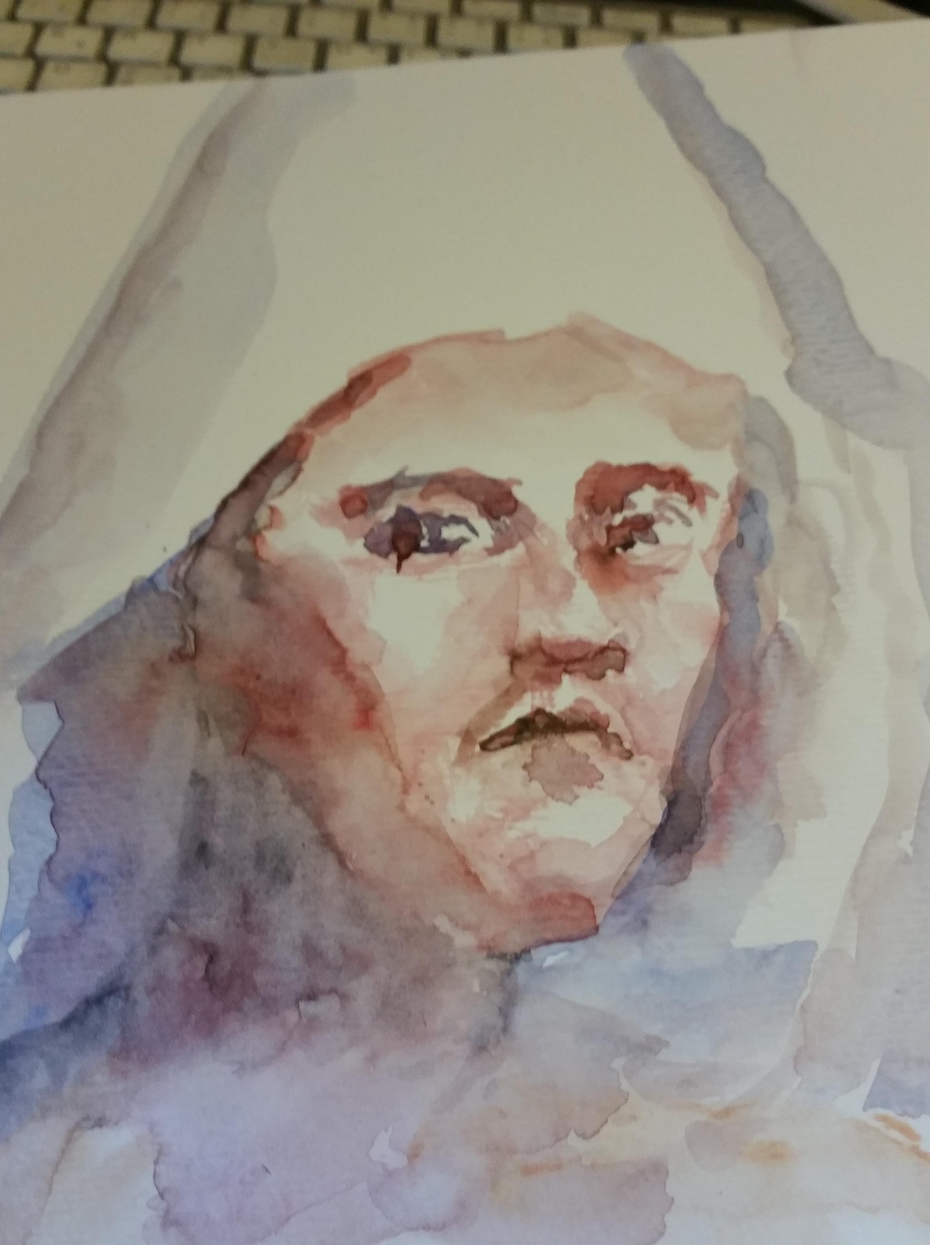 Portrait aquarelle  cours de dessin