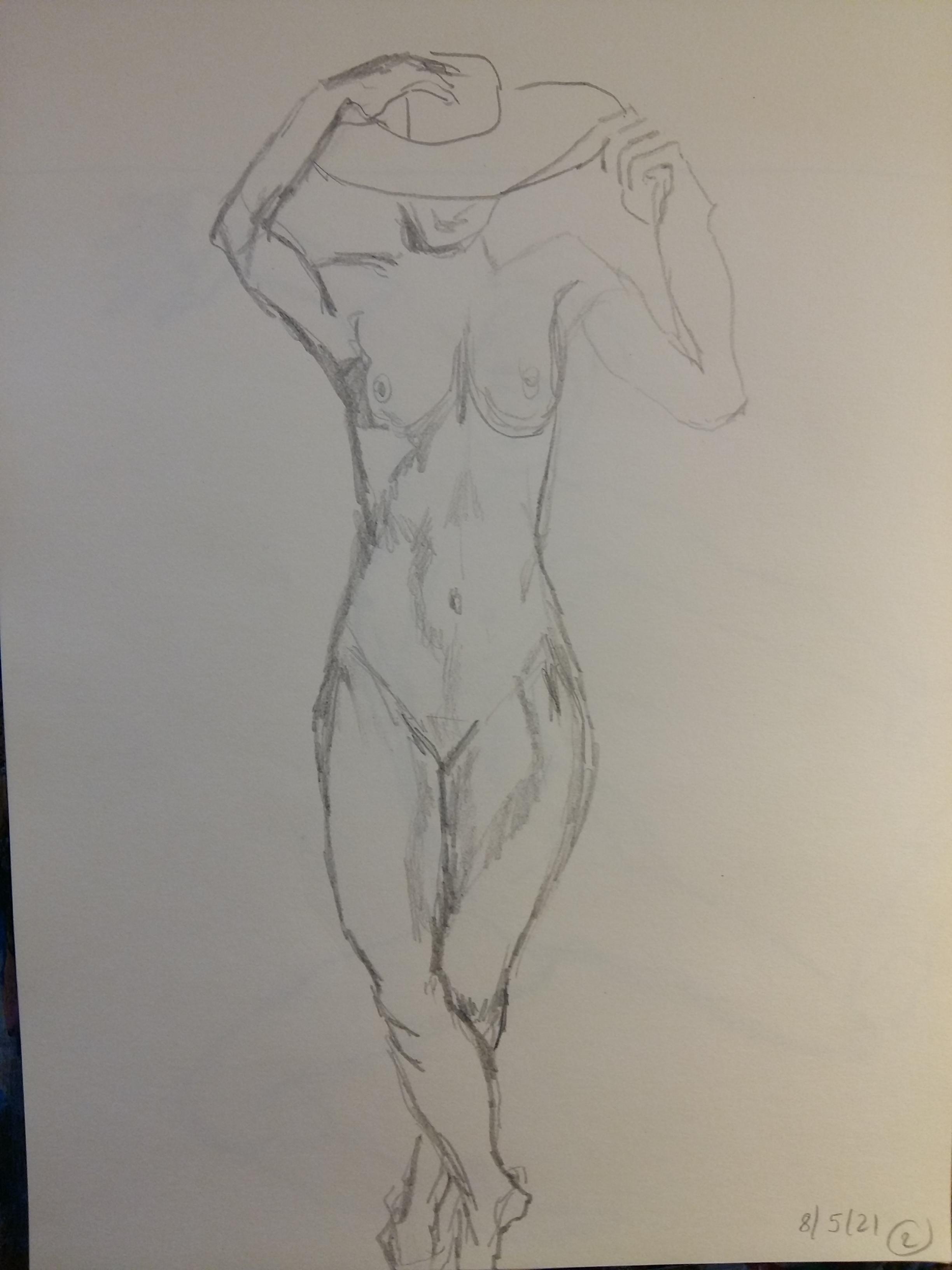 Dessin femme face avec chapeau crayon de papier  cours de dessin