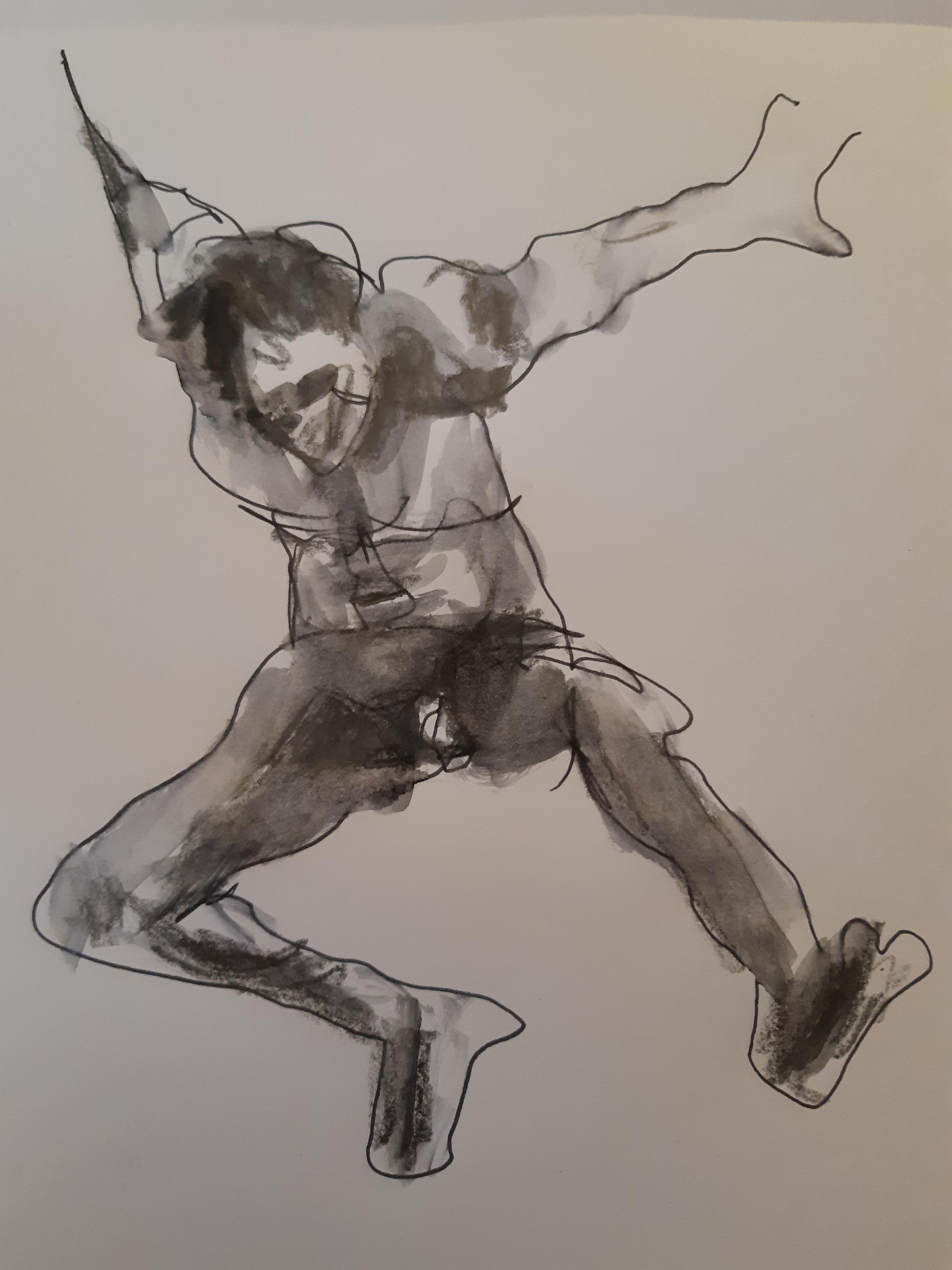 Dessin technique mixte la vie crayon de papier homme face  cours de dessin