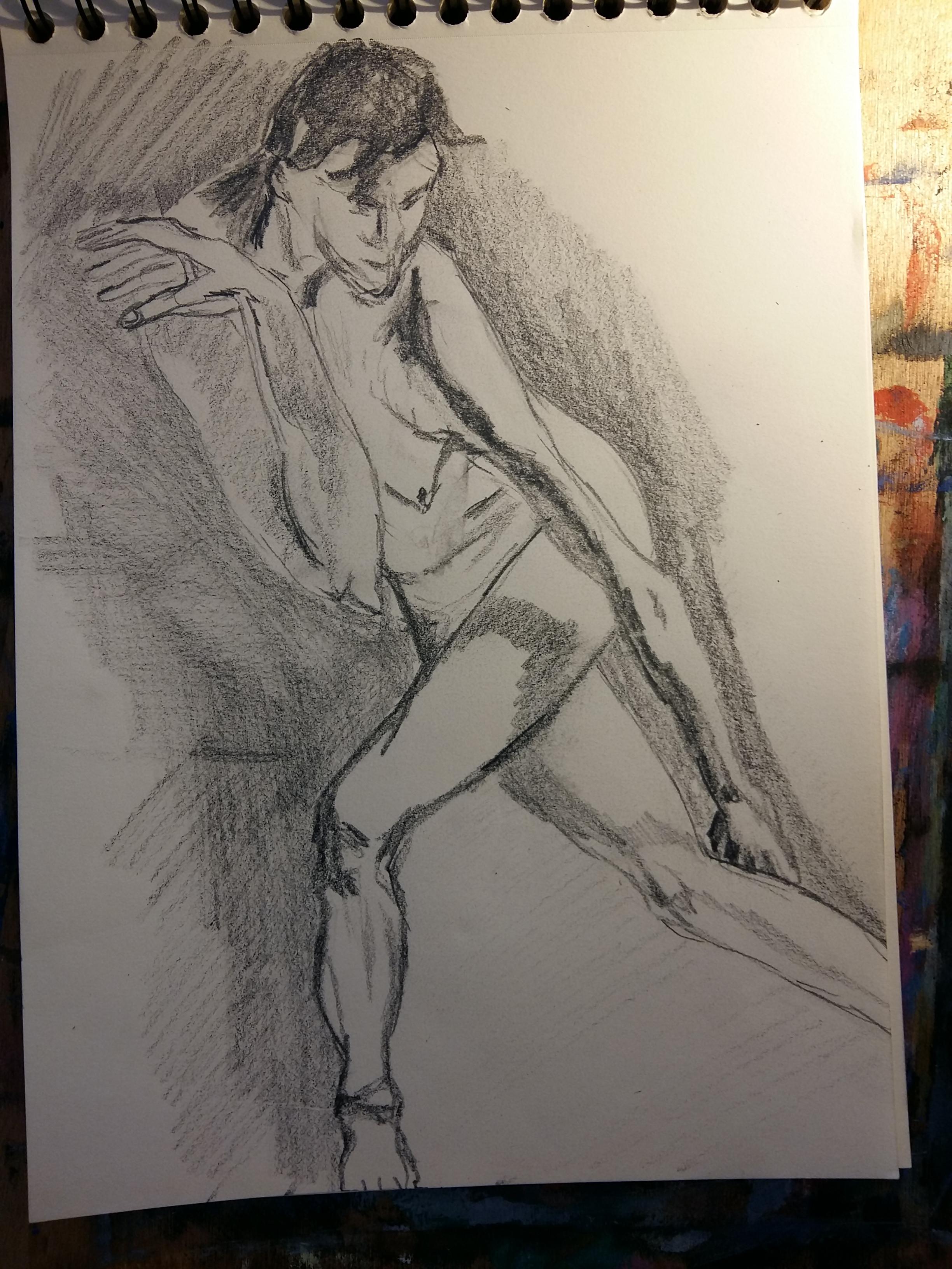 Esquisse graphite hachures  cours de dessin
