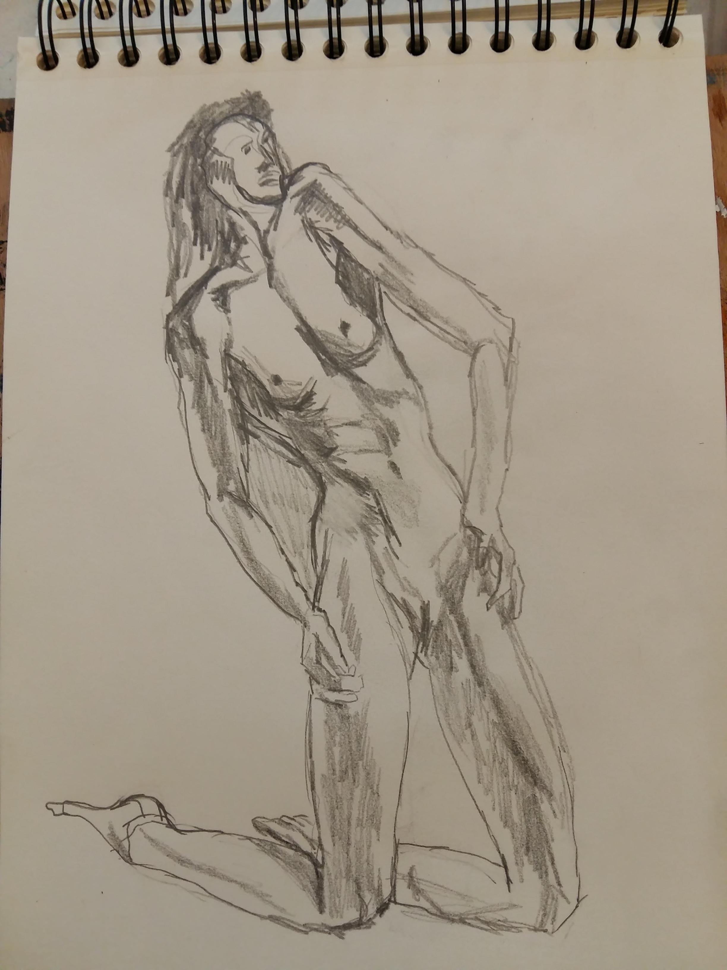 Esquisse crayon papier format A4 carnet de croquis  cours de dessin