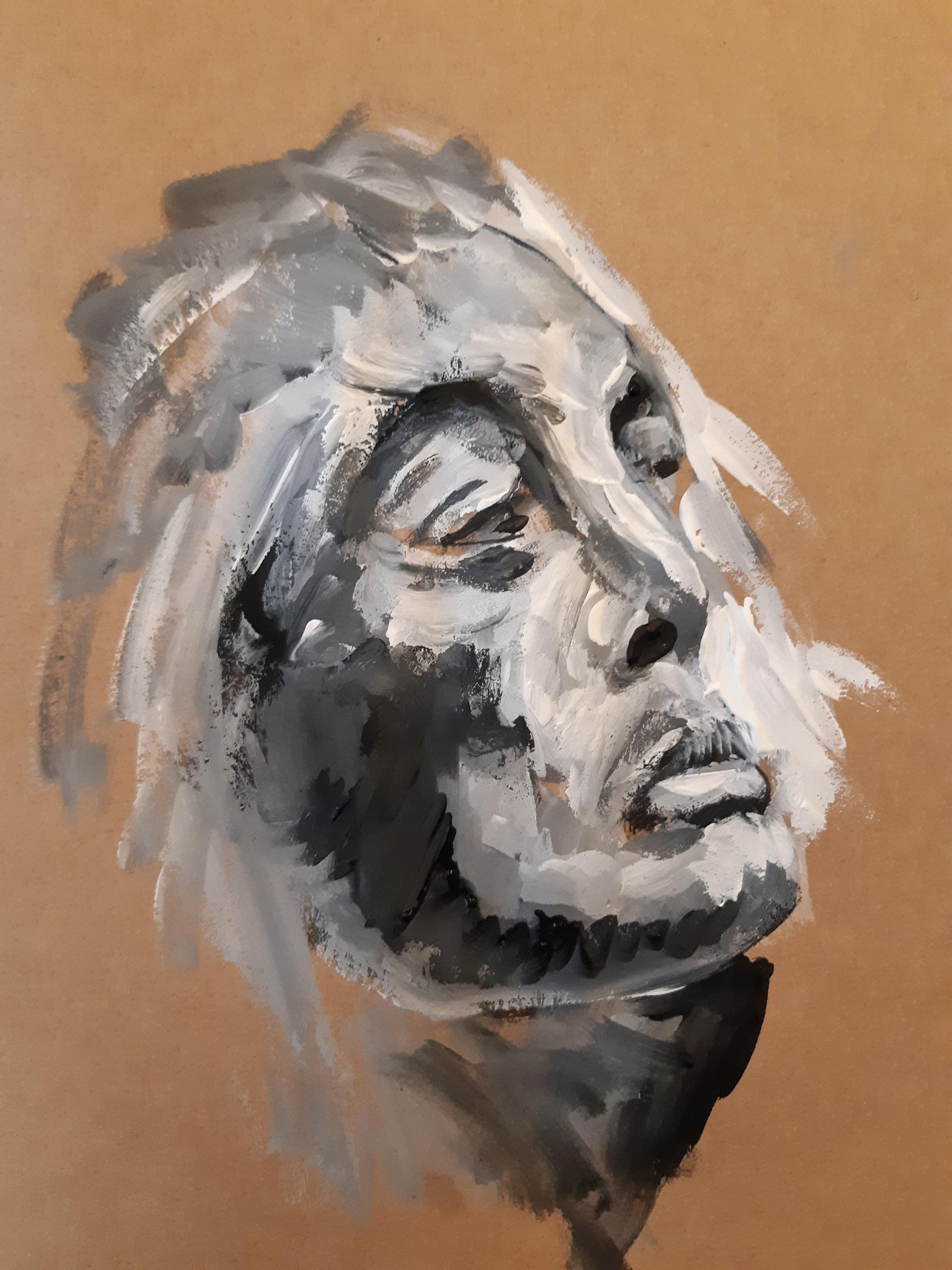 Portrait peinture trois quarts face  cours de dessin