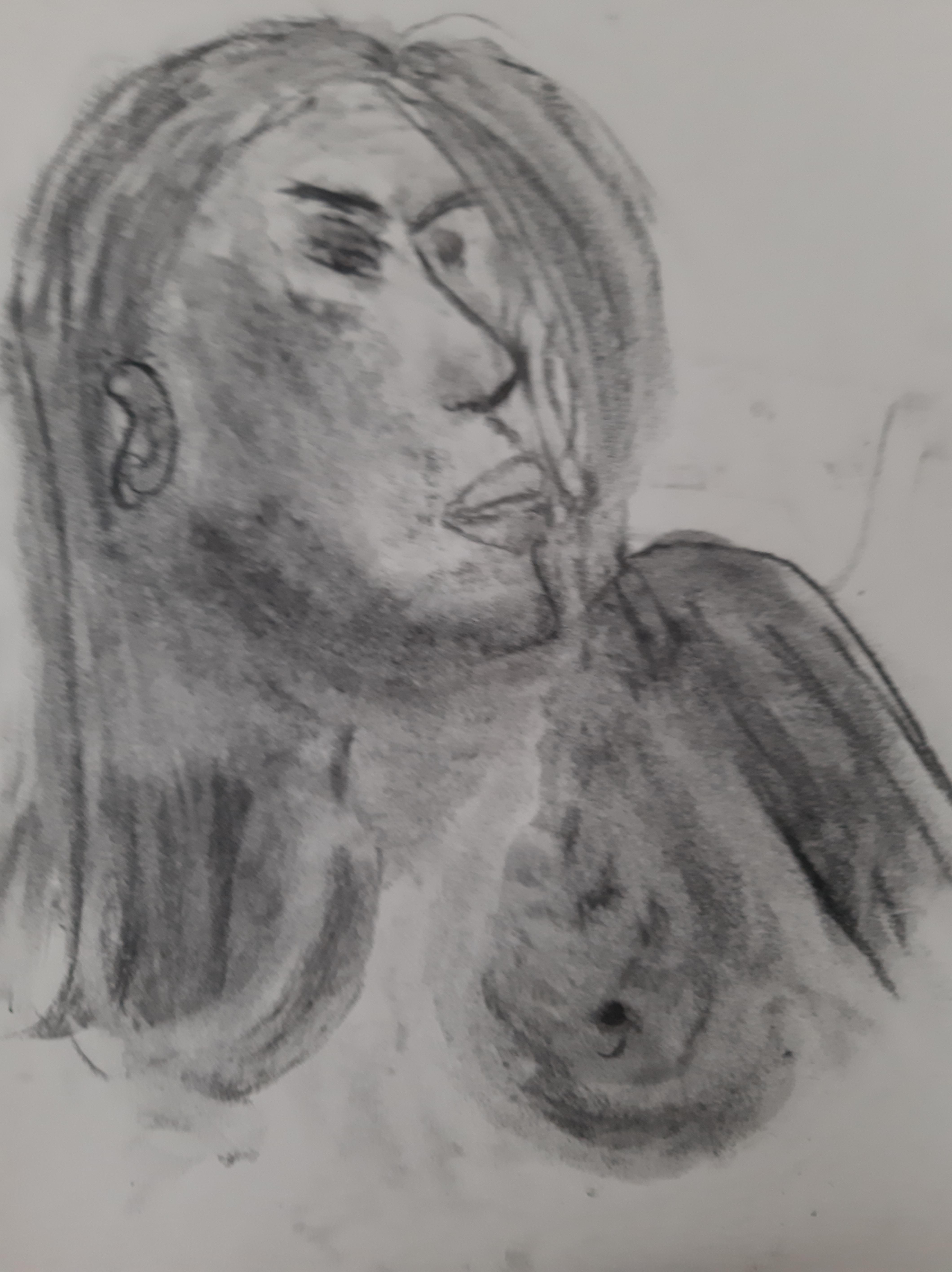 Portrait fusain  cours de dessin