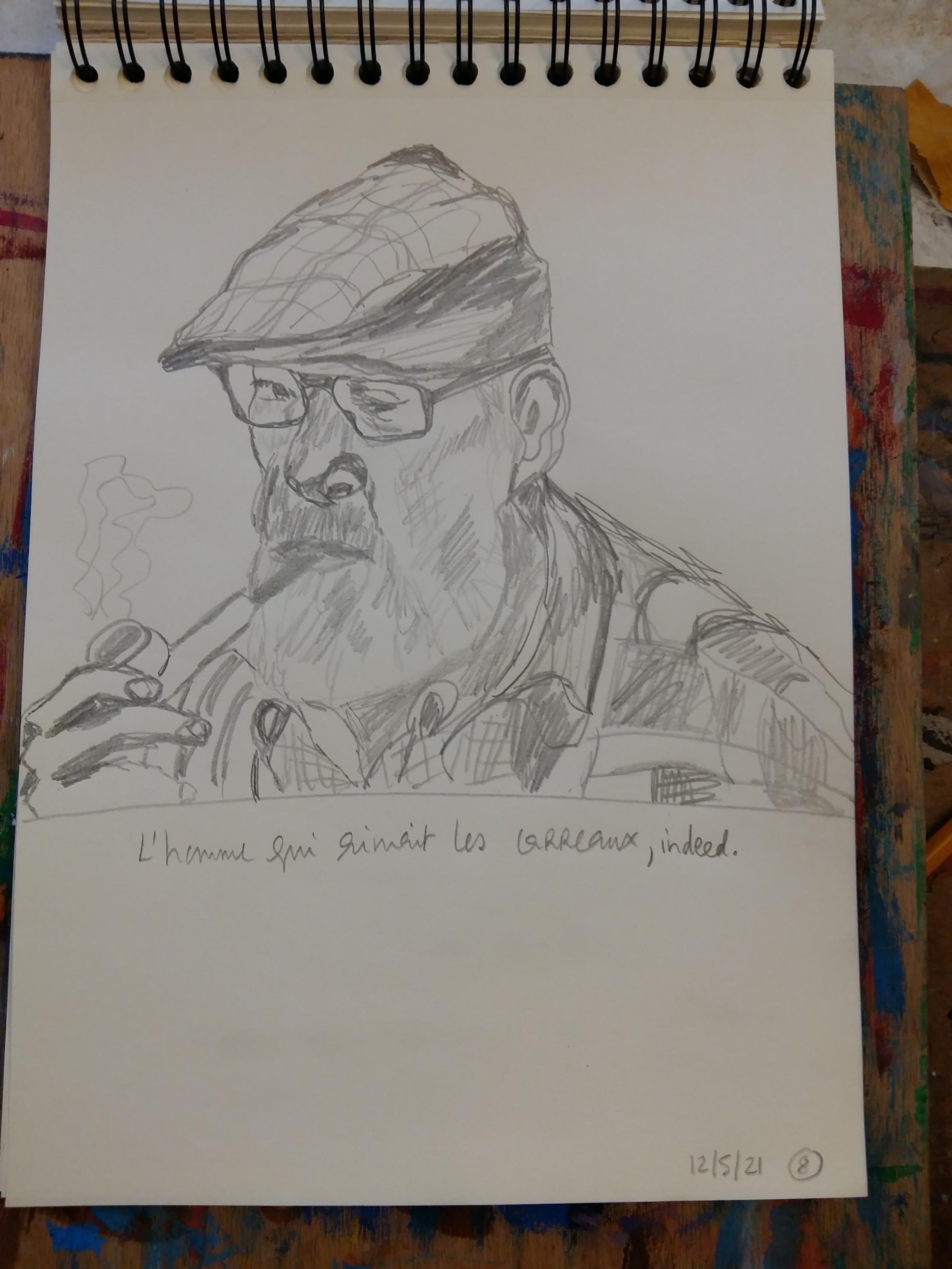Portraits au crayon  cours de dessin